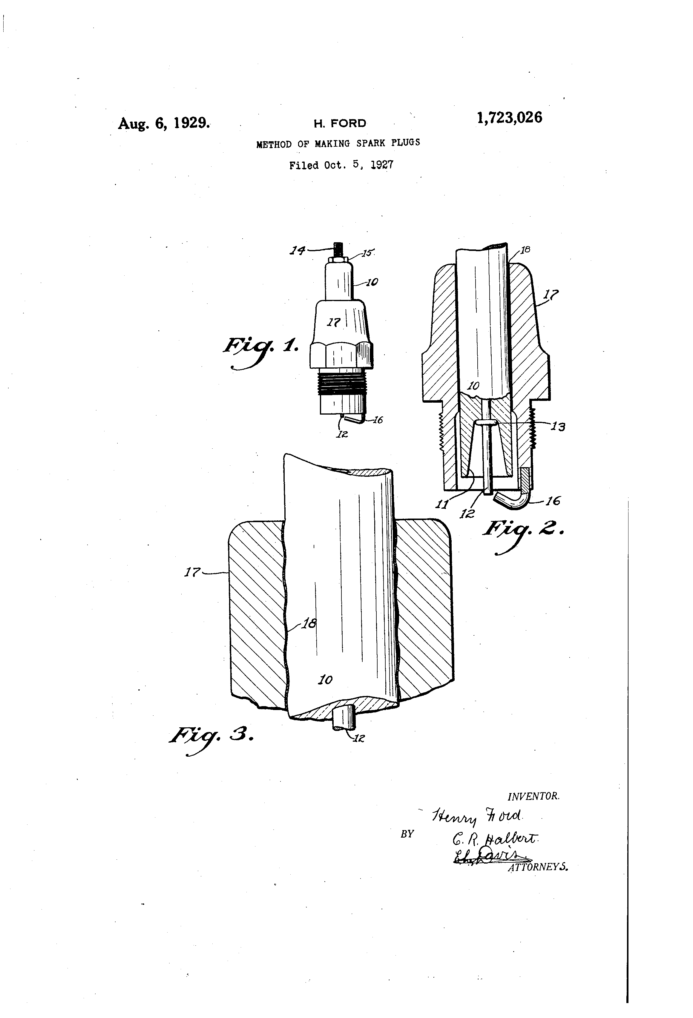 Method of making spark plugs