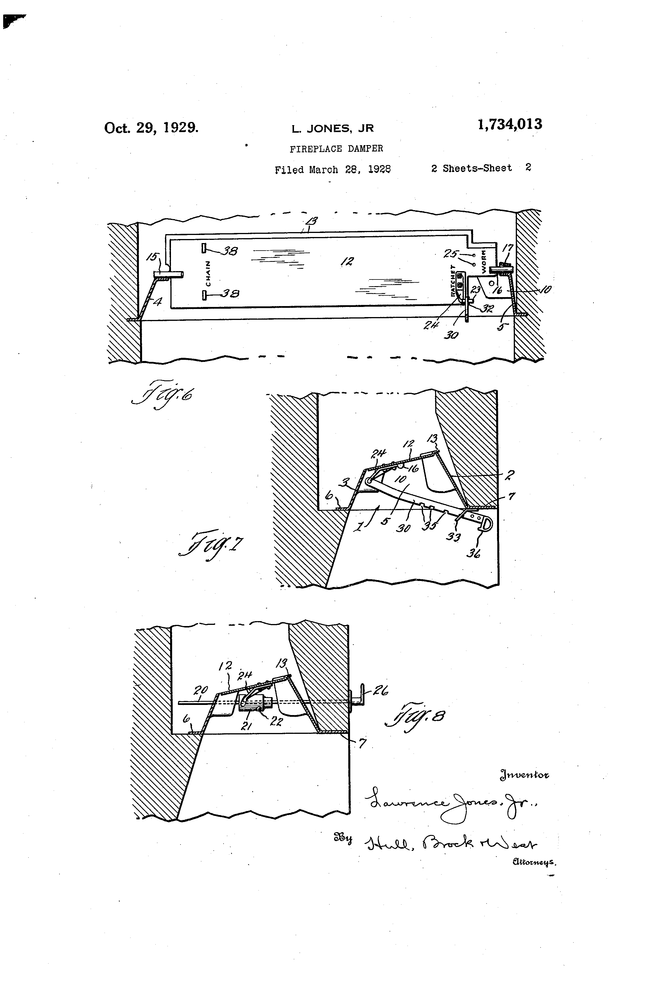 patent us1734013 fireplace damper google patents