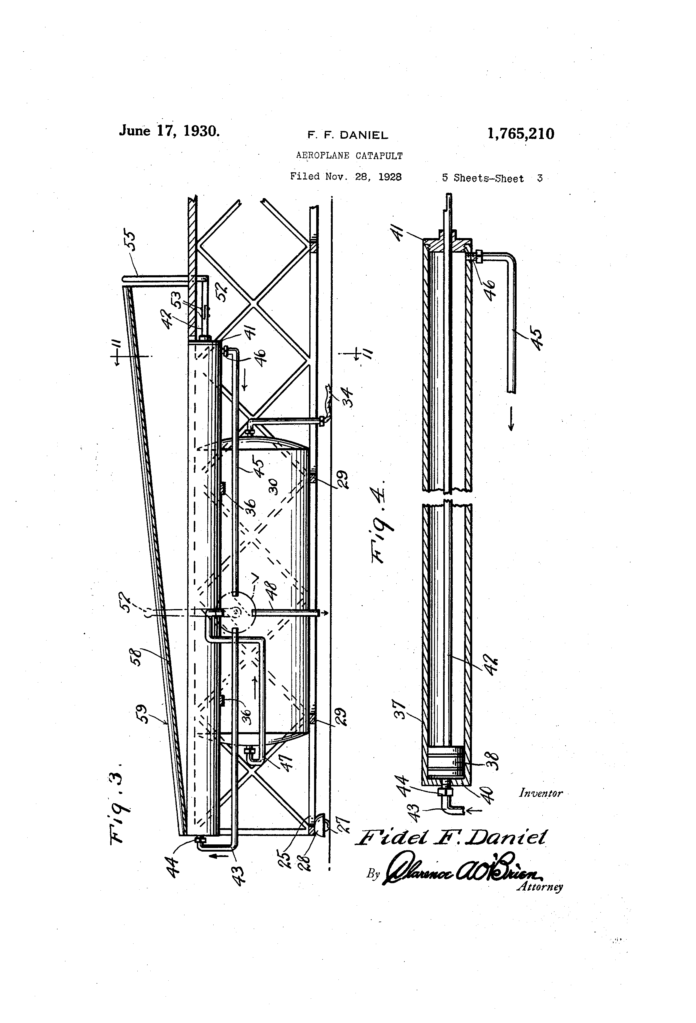 Patent Us1765210 Aeroplane Catapult Google Patents Diagram Of A Drawing