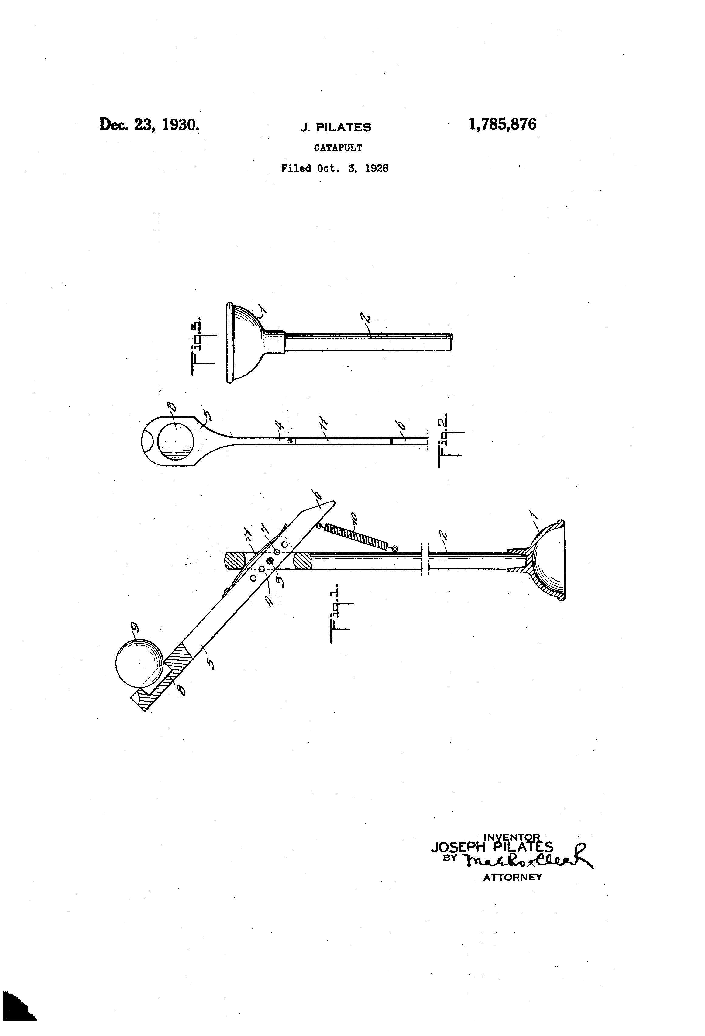 Patent Us1785876 Catapult Google Patents Diagram Of A Drawing