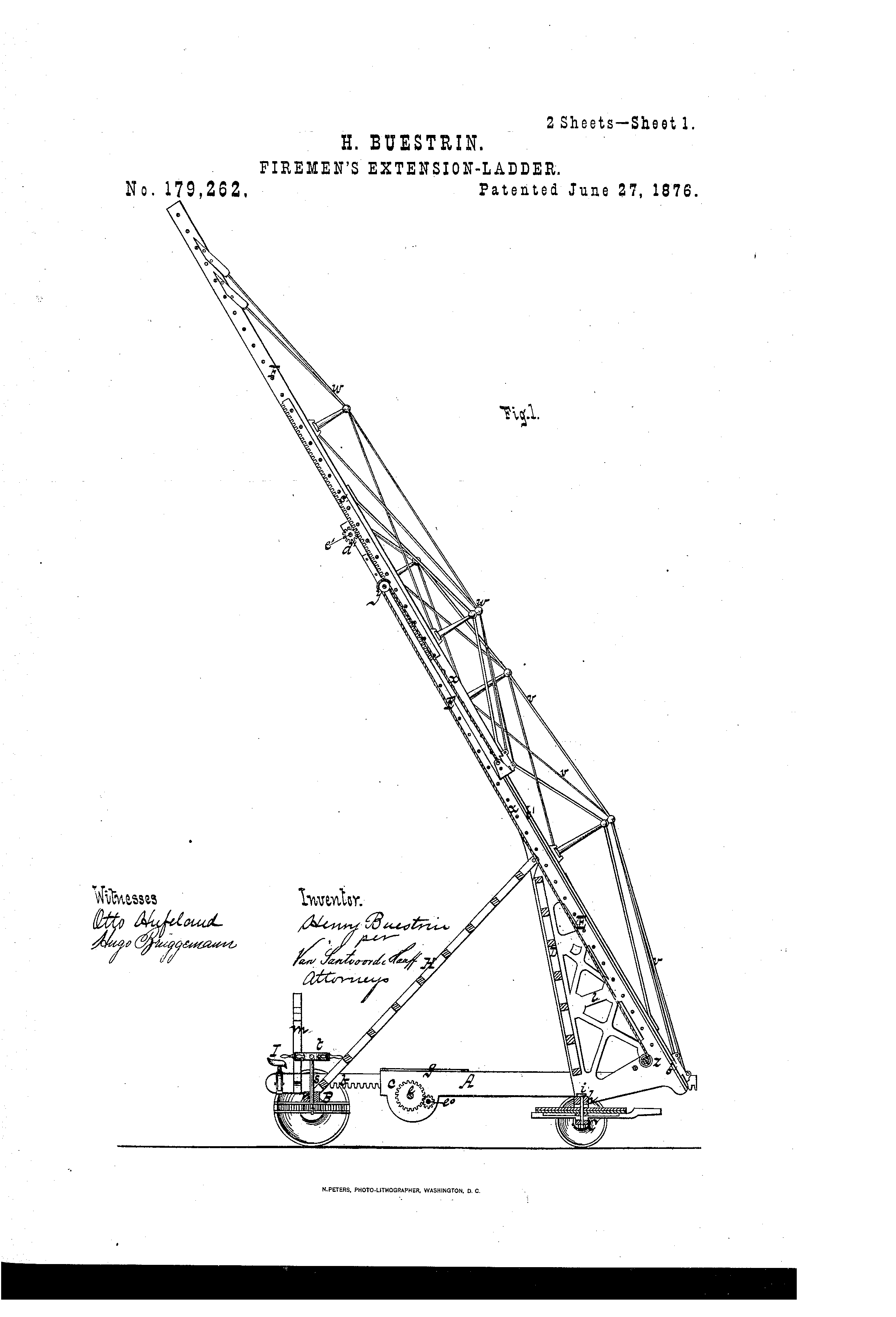 Patent US179262 - Improvement in firemen s extension-ladders