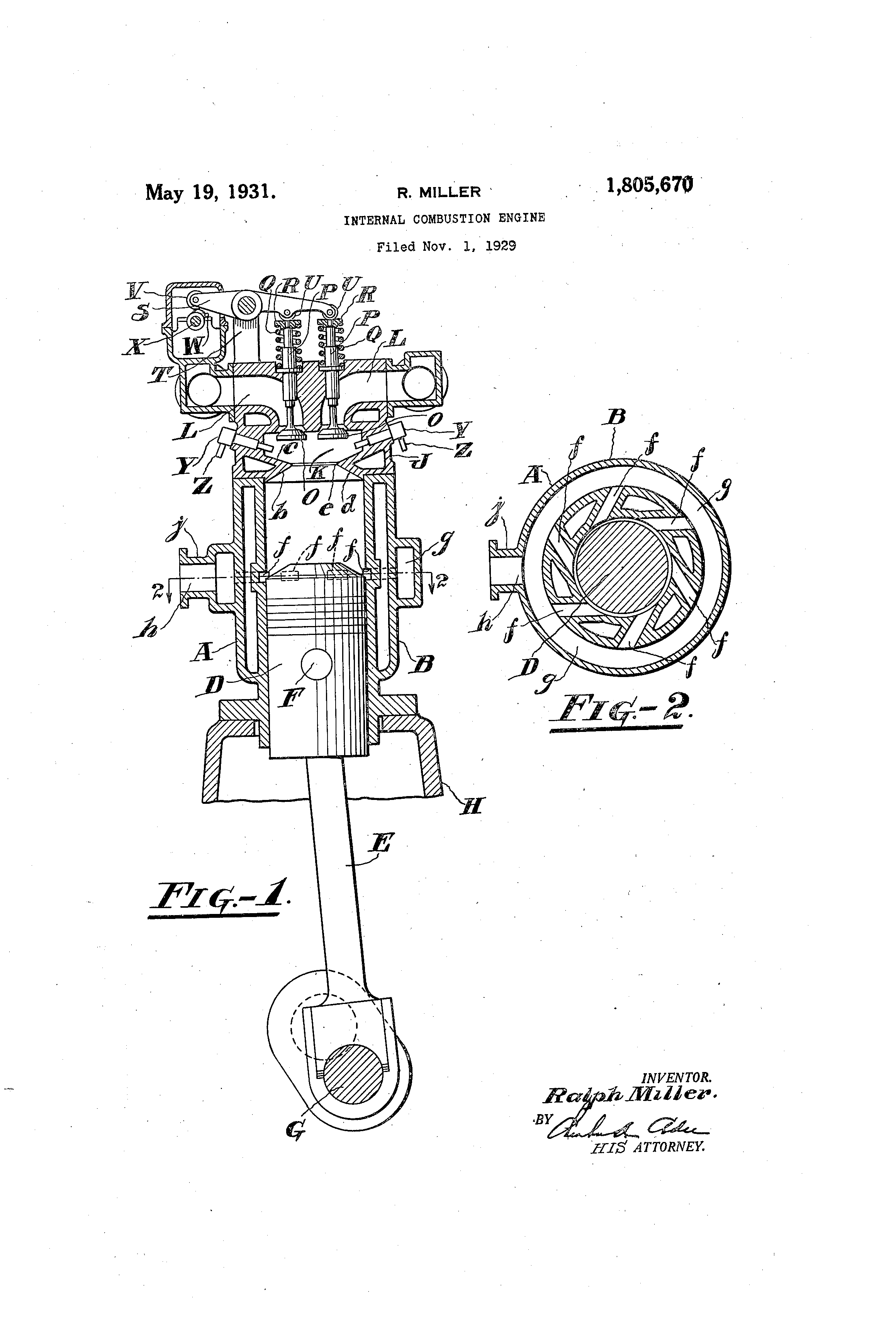 Patent Us1805670 Internal Combustion Engine Google Patents Illustrated Diagram Of A Basic Drawing