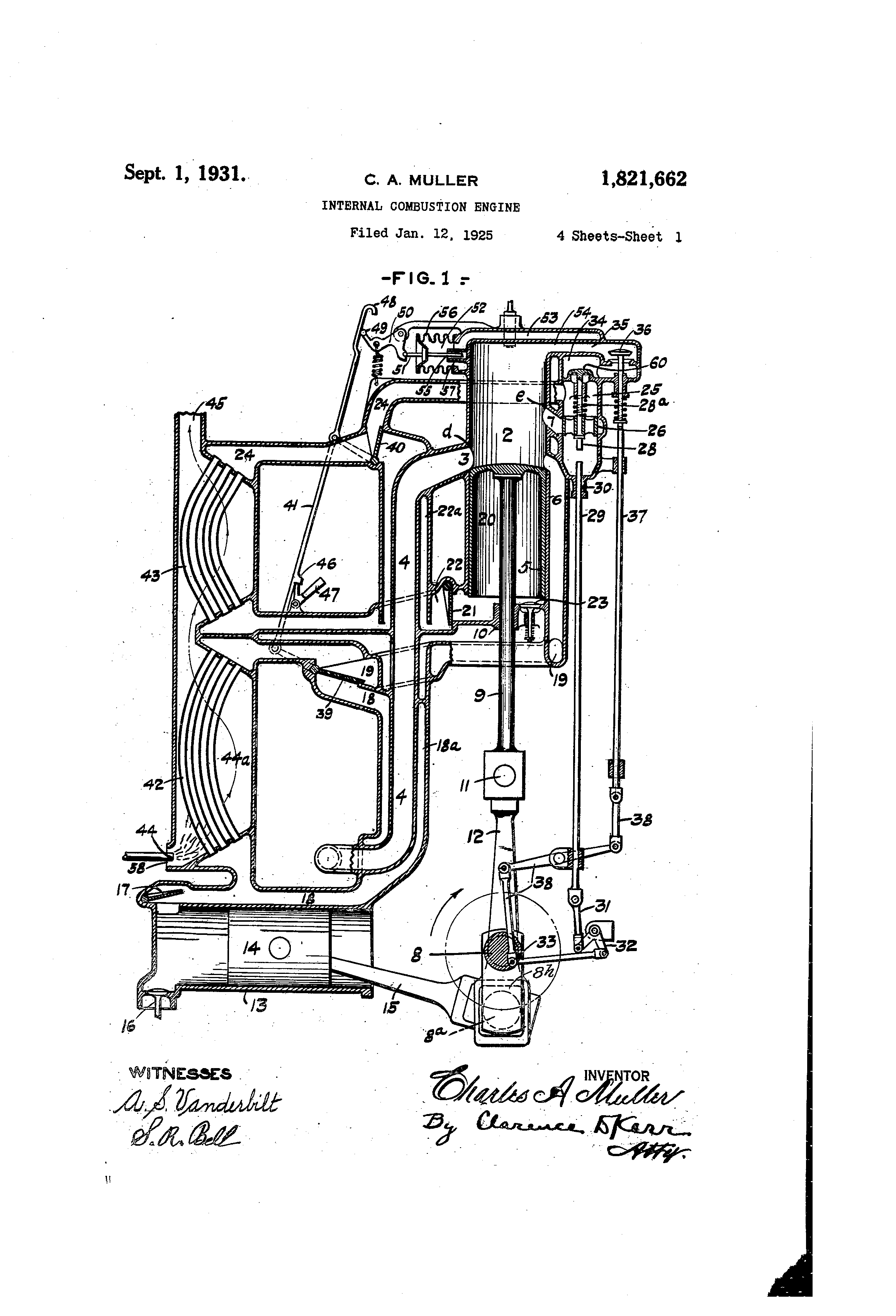 Patent Us1821662 Internal Combustion Engine Google Patents Diagram Drawing