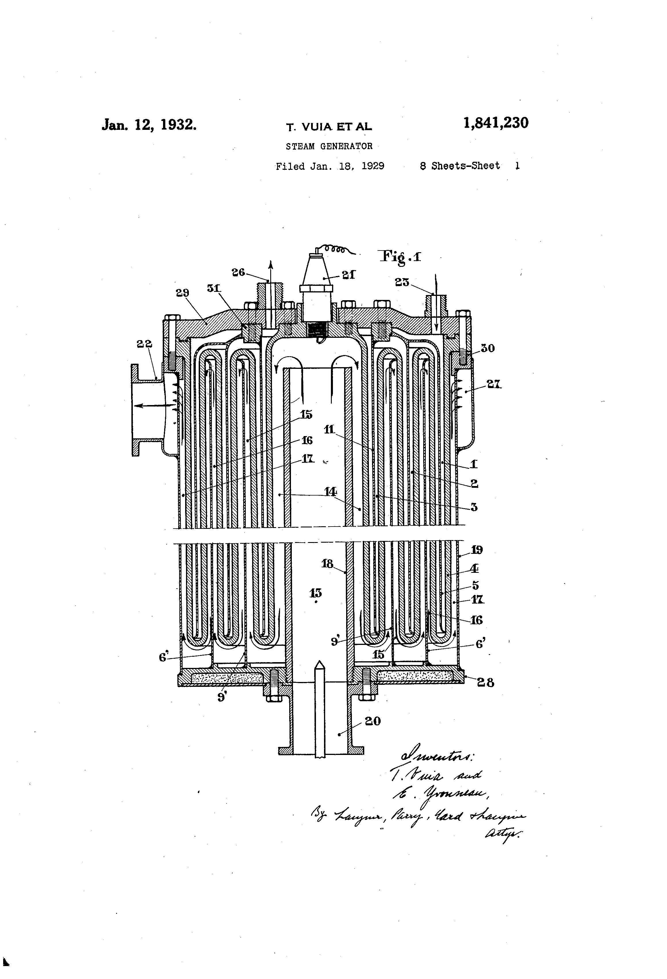 Patent US Steam generator Google Patents