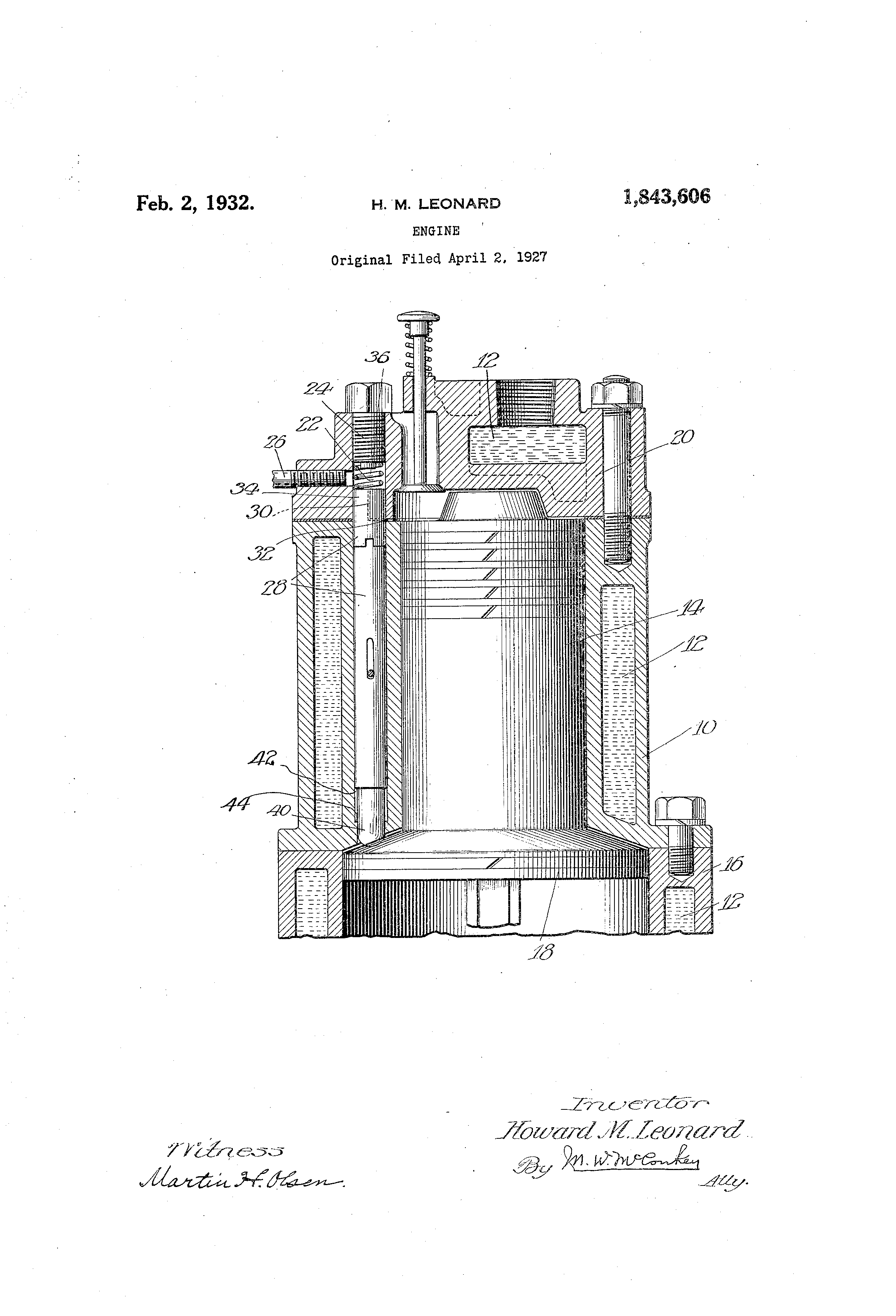 Patent Us1843606 Engine Google Patents L6 Diagram Drawing