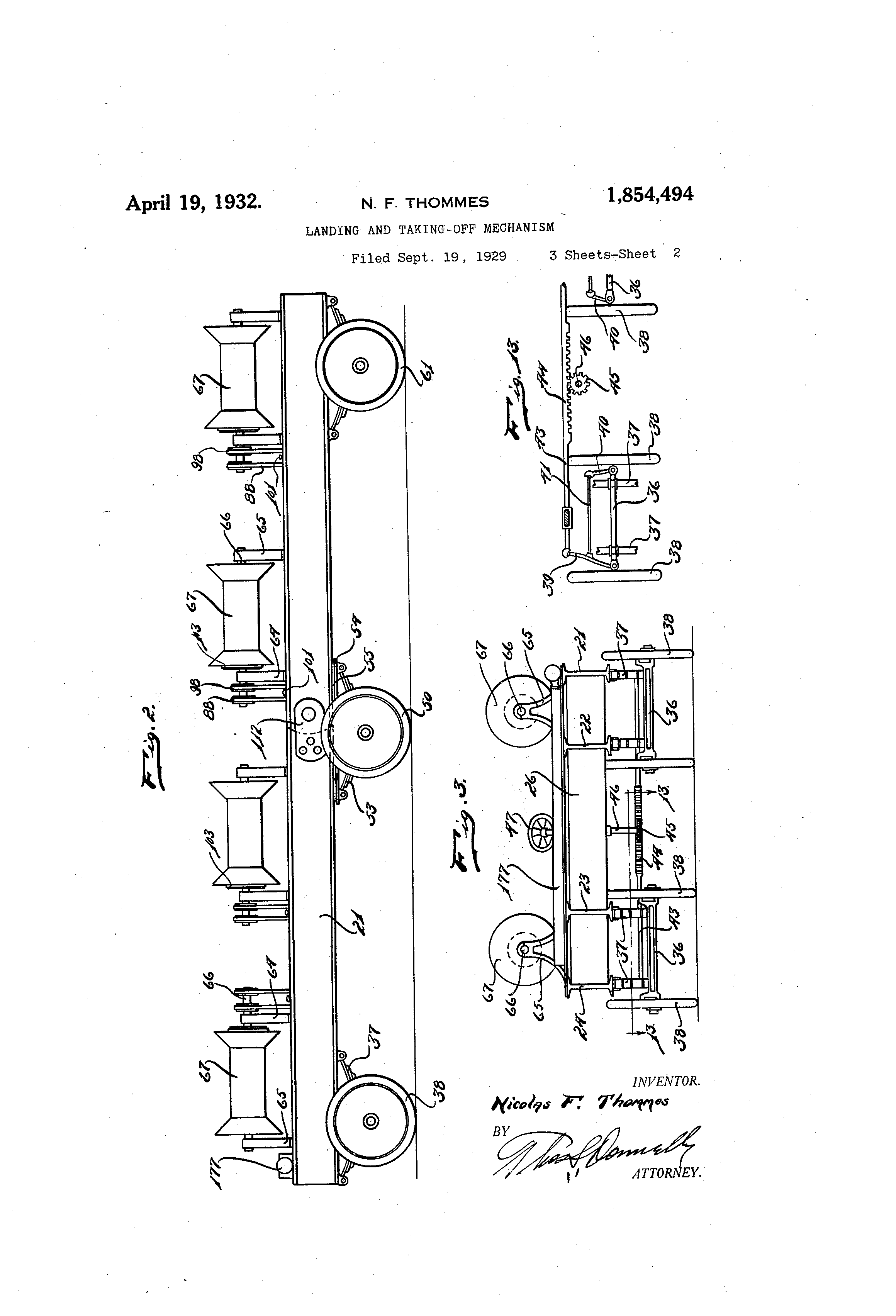 Patent US1854494 - Landing and taking-off mechanism - Google