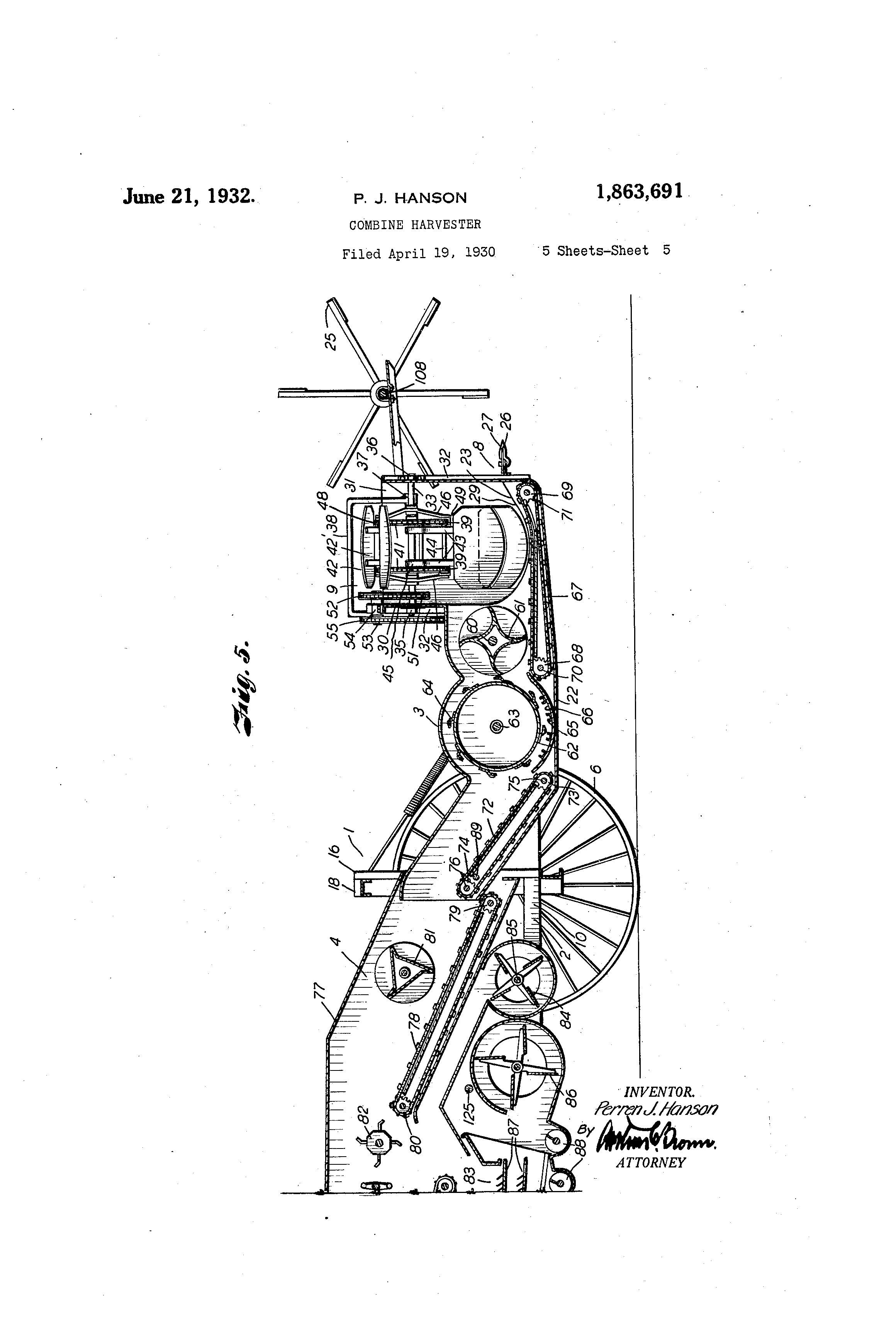 patent us1863691 combine harvester google patents