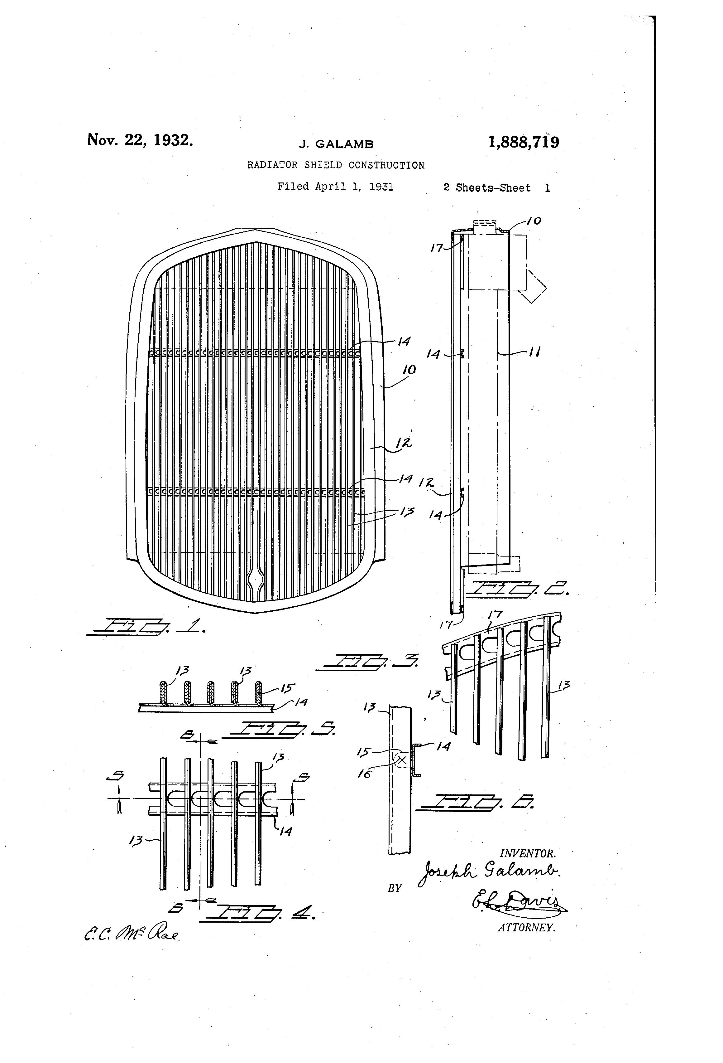 Patent Us1888719 Radiator Shield Construction Google