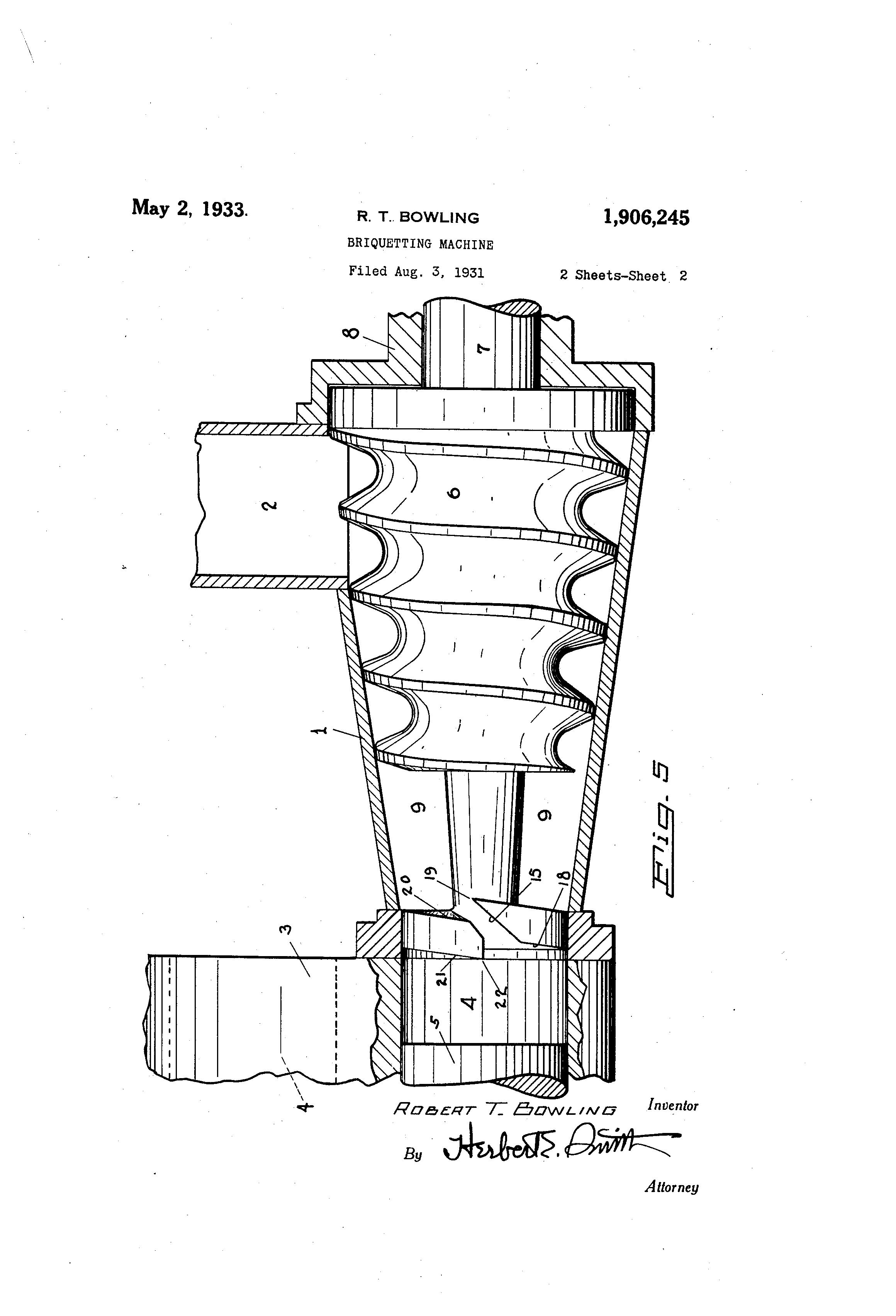 patent us1906245 briquetting machine google patents