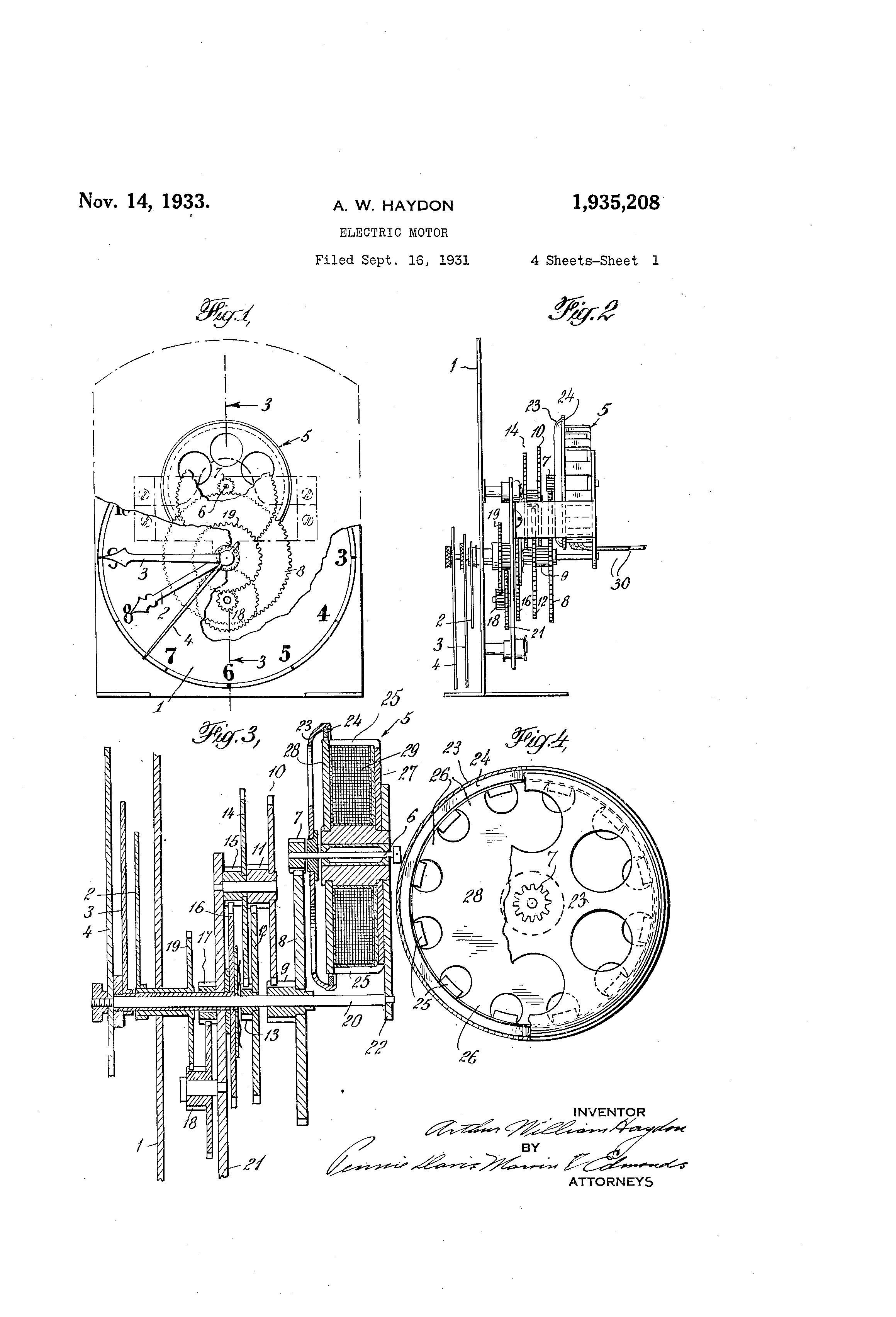 US1935208 0 patent us1935208 electric motor google patents  at fashall.co