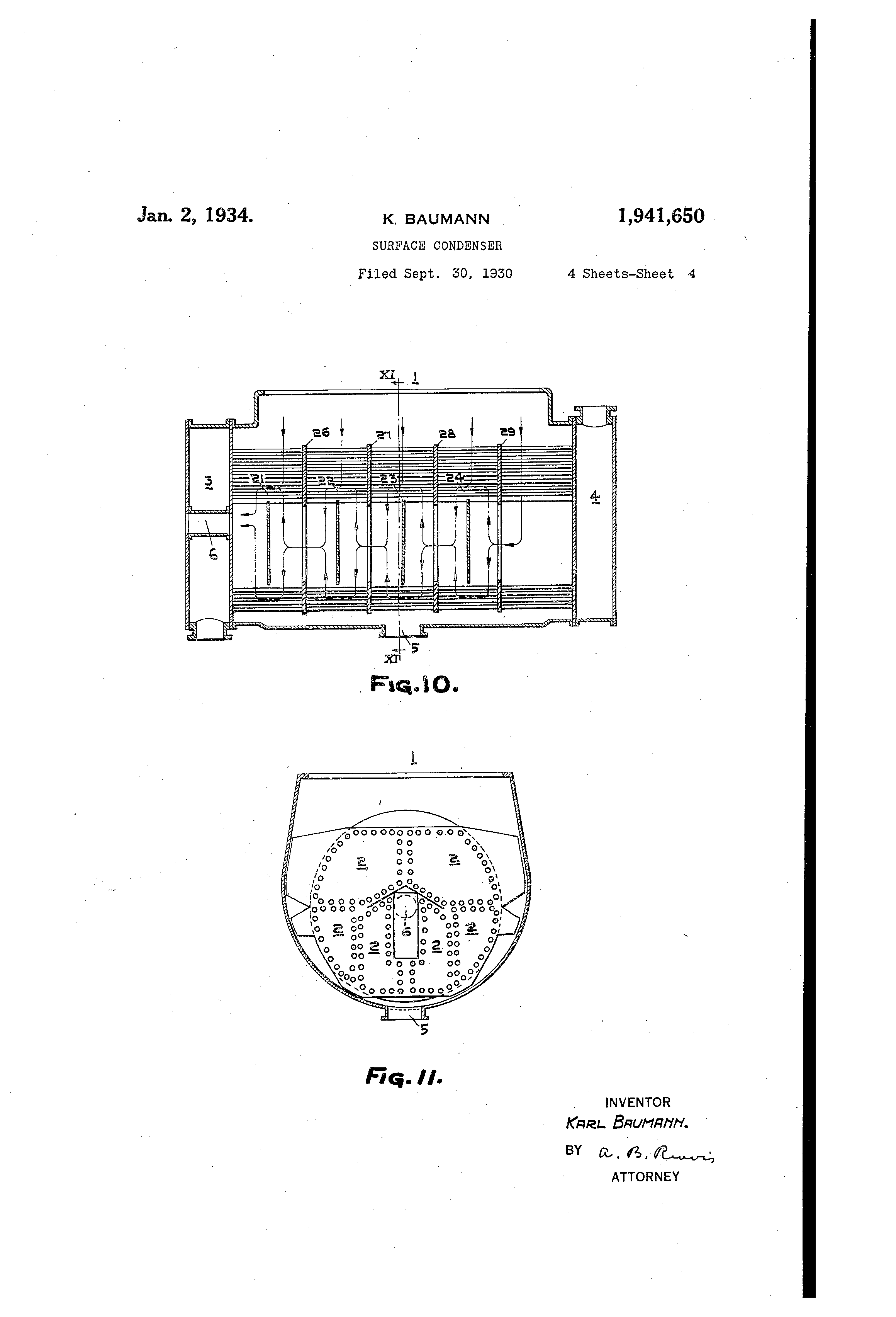 Patent US Surface condenser Google Patents