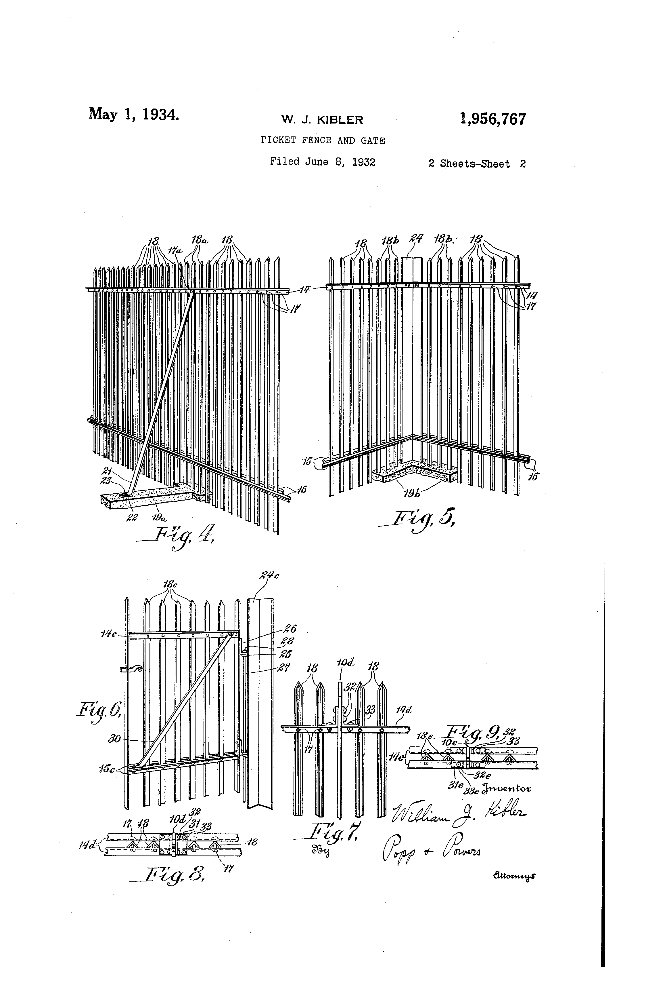 Picket Fence Drawing