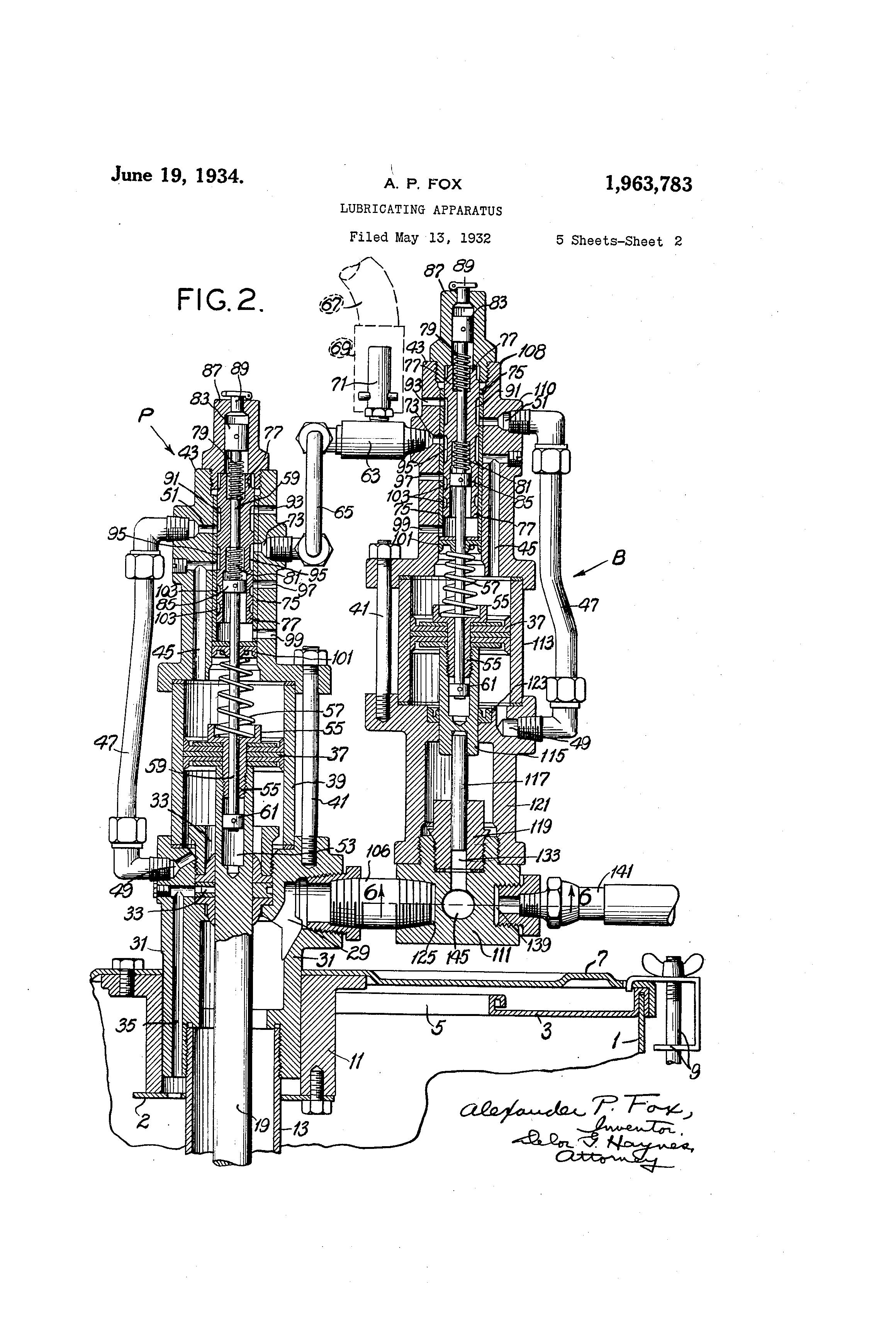 Patent US Lubricating apparatus Google Patents