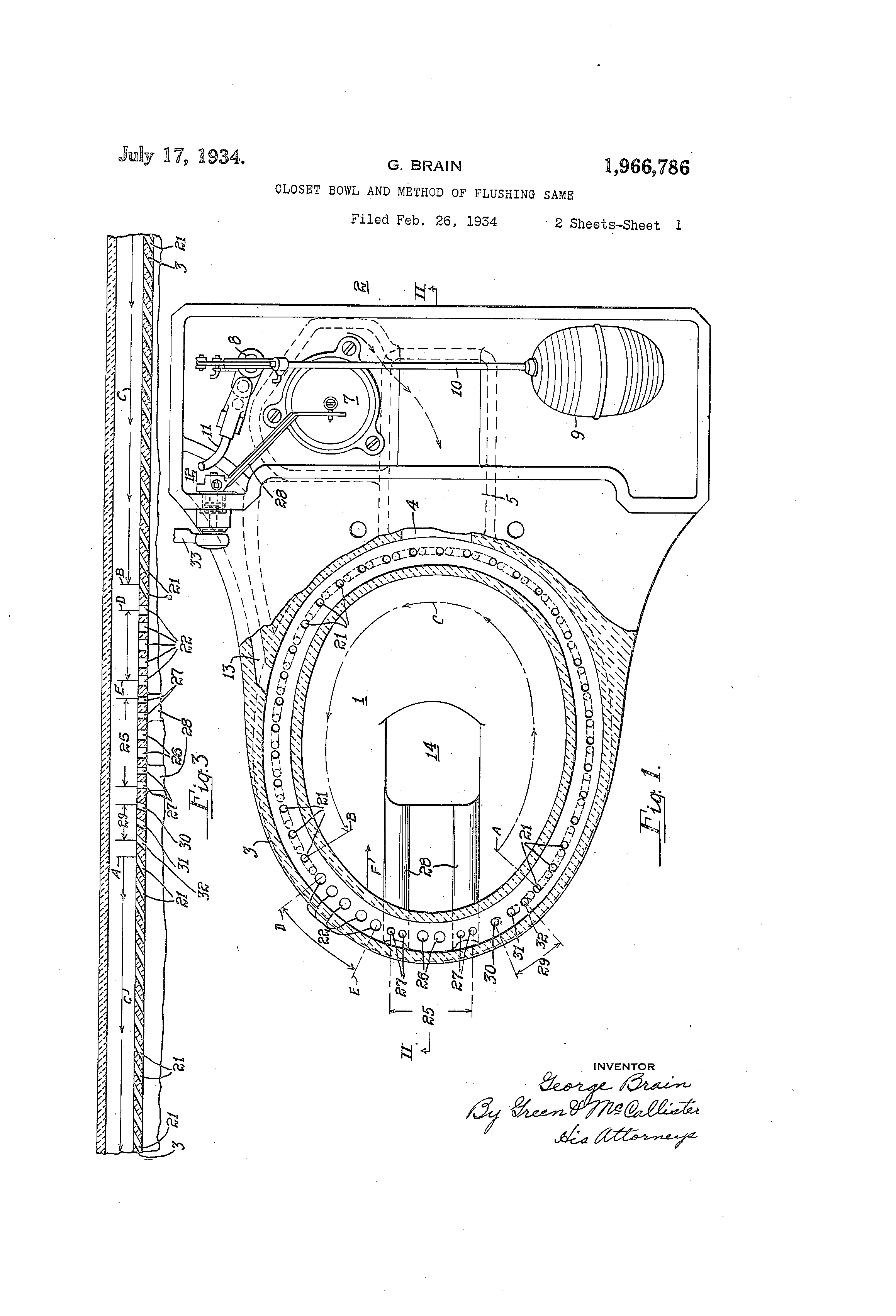 Vintage Patent Drawing