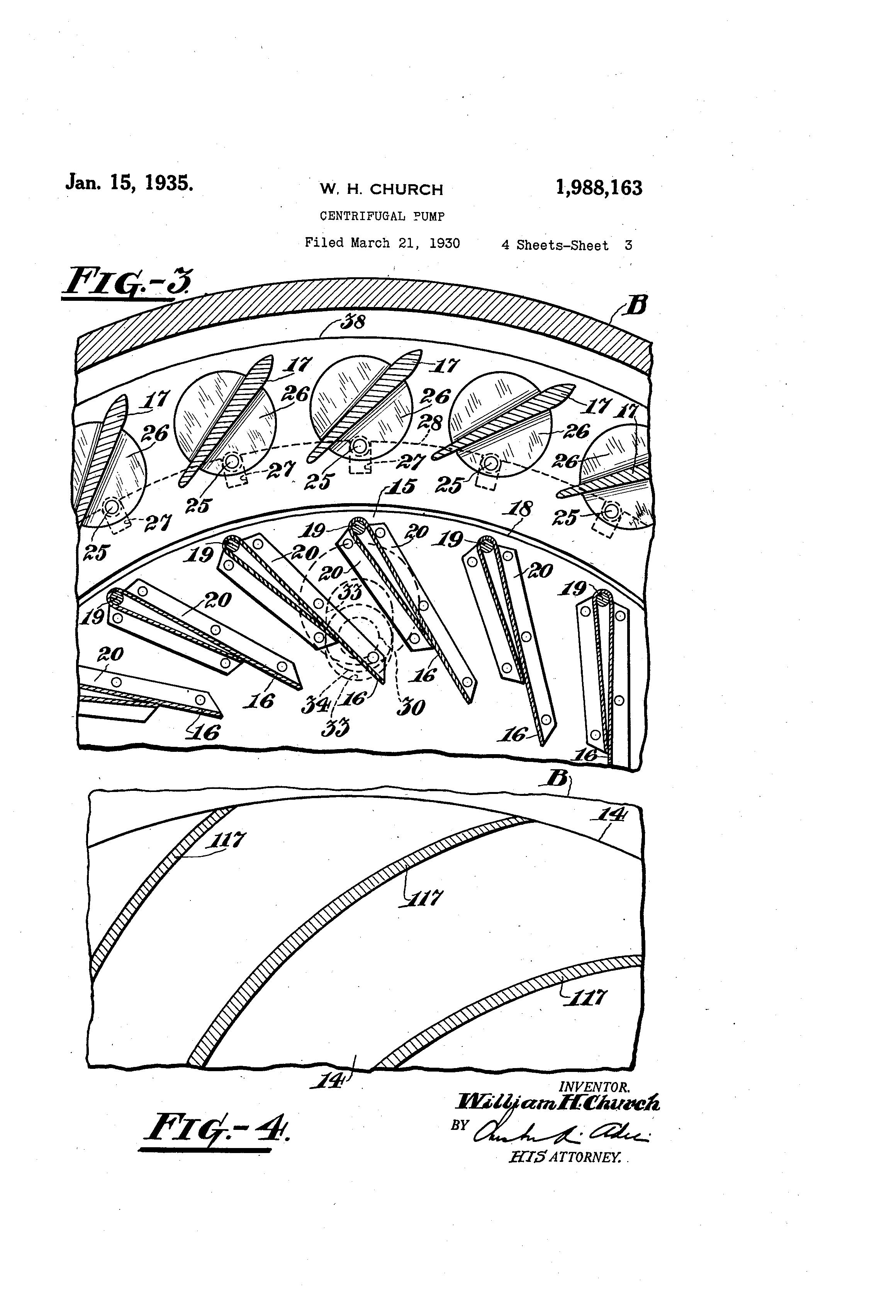Patent US1988163 - Centrifugal pump - Google Patents