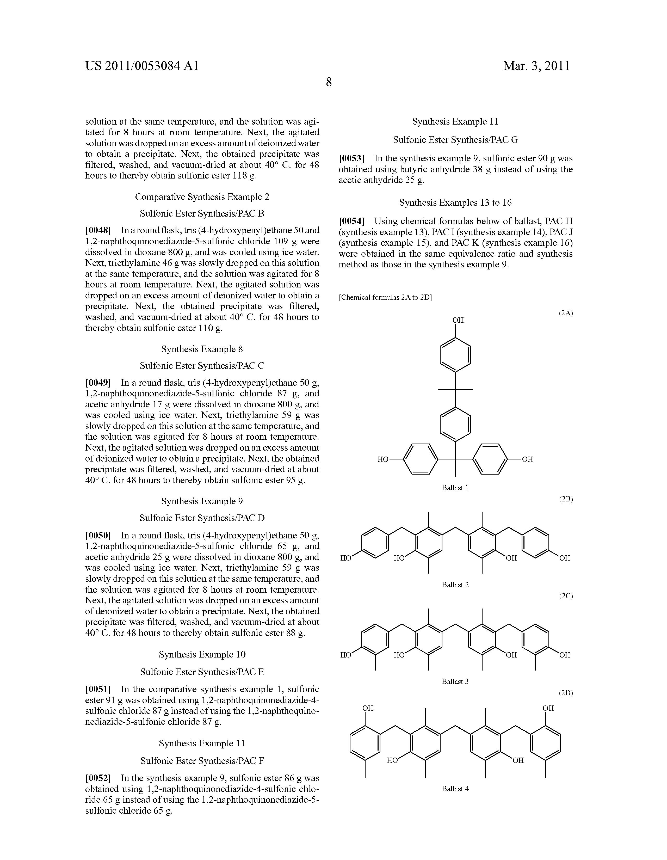 patent us20110053084 - photosensitive compound and photosensitive