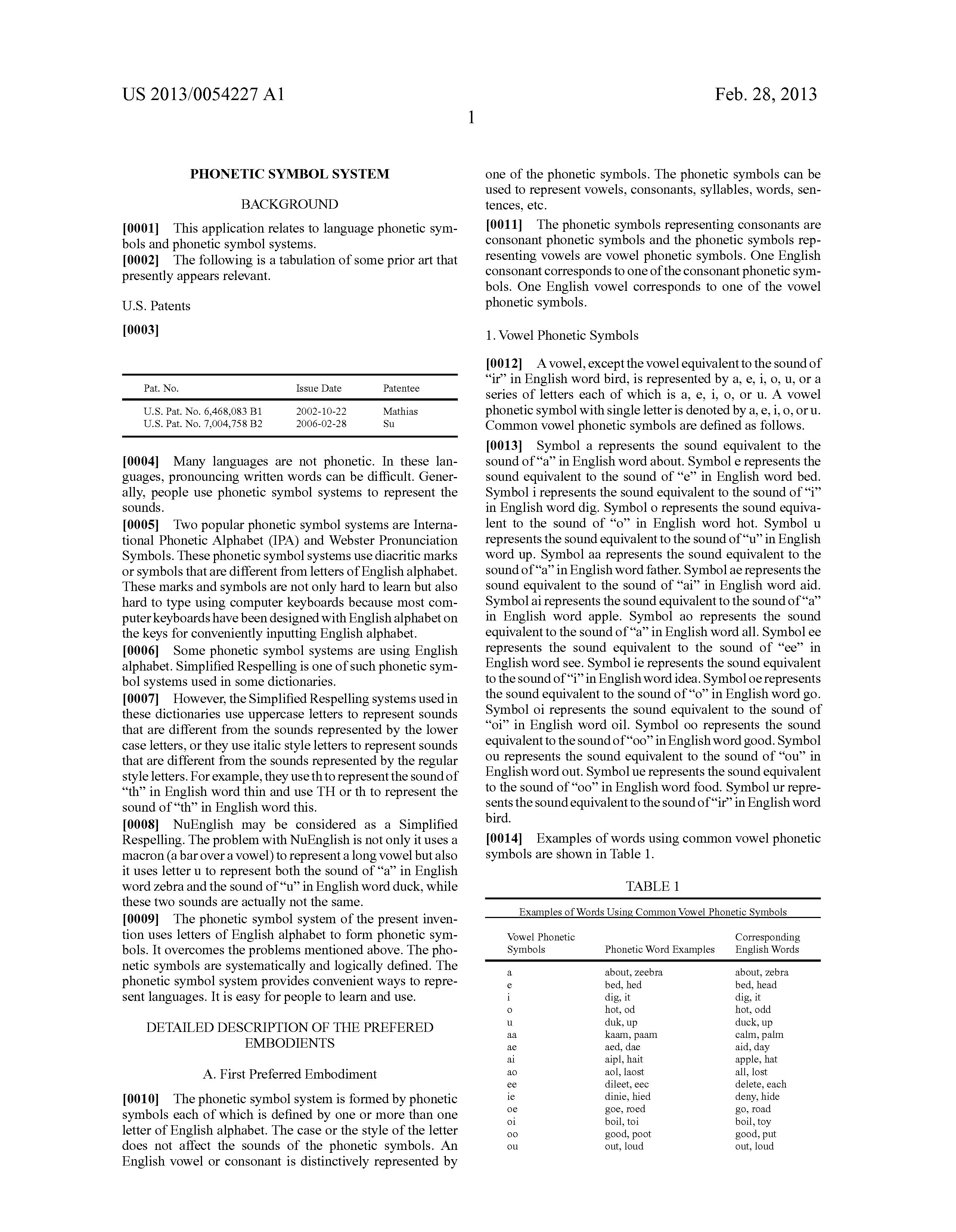 Patent Us20130054227 Phonetic Symbol System Google Patents