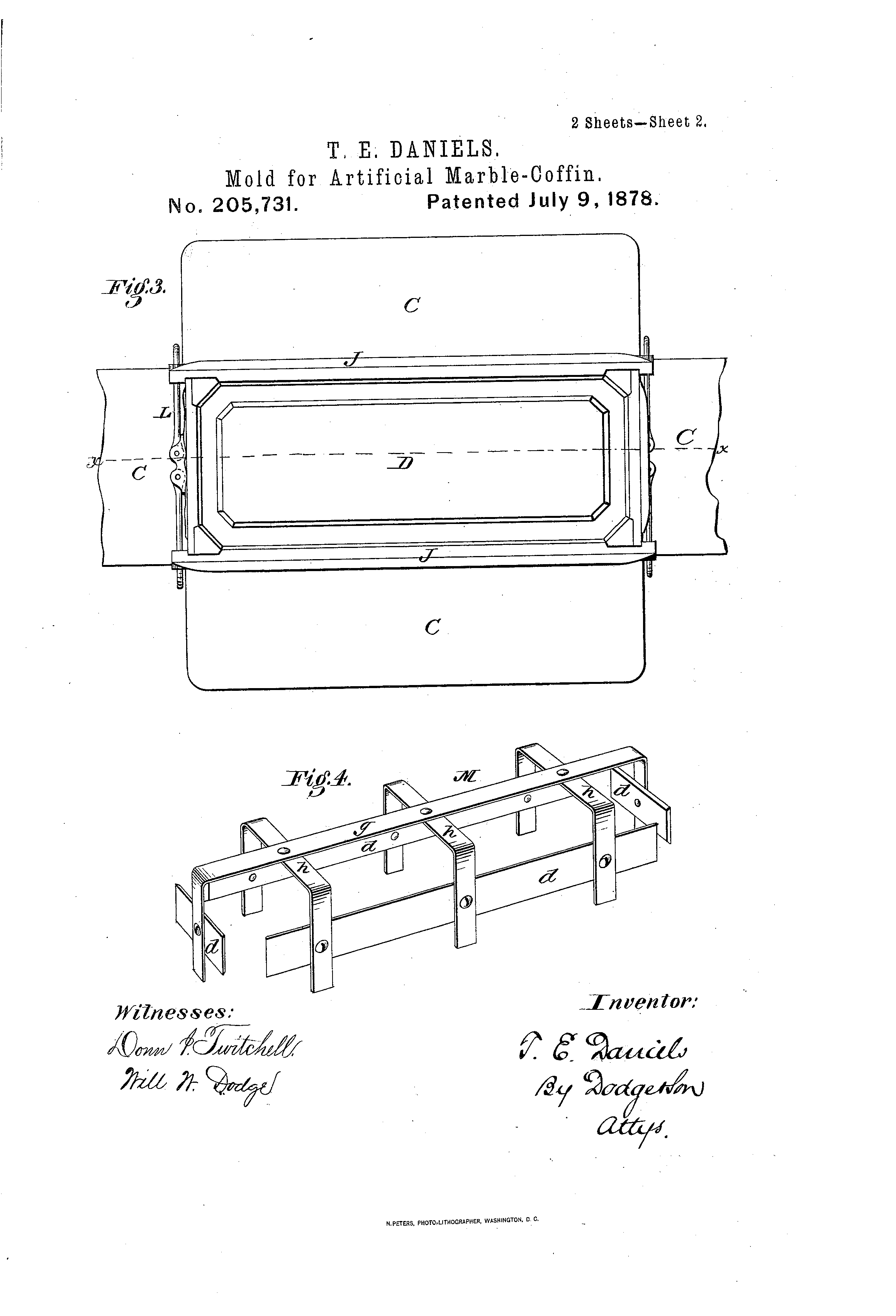 Patente US205731 - Improvement in molds for artificial-marble