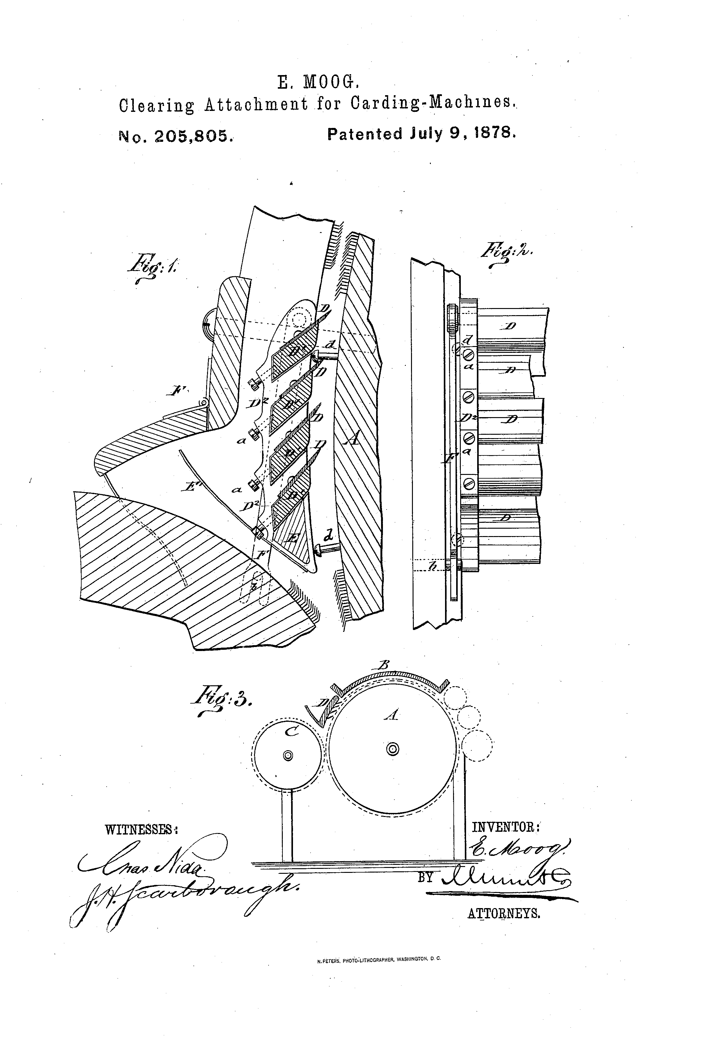 Patent US205805 - Improvement in clearing attachments for