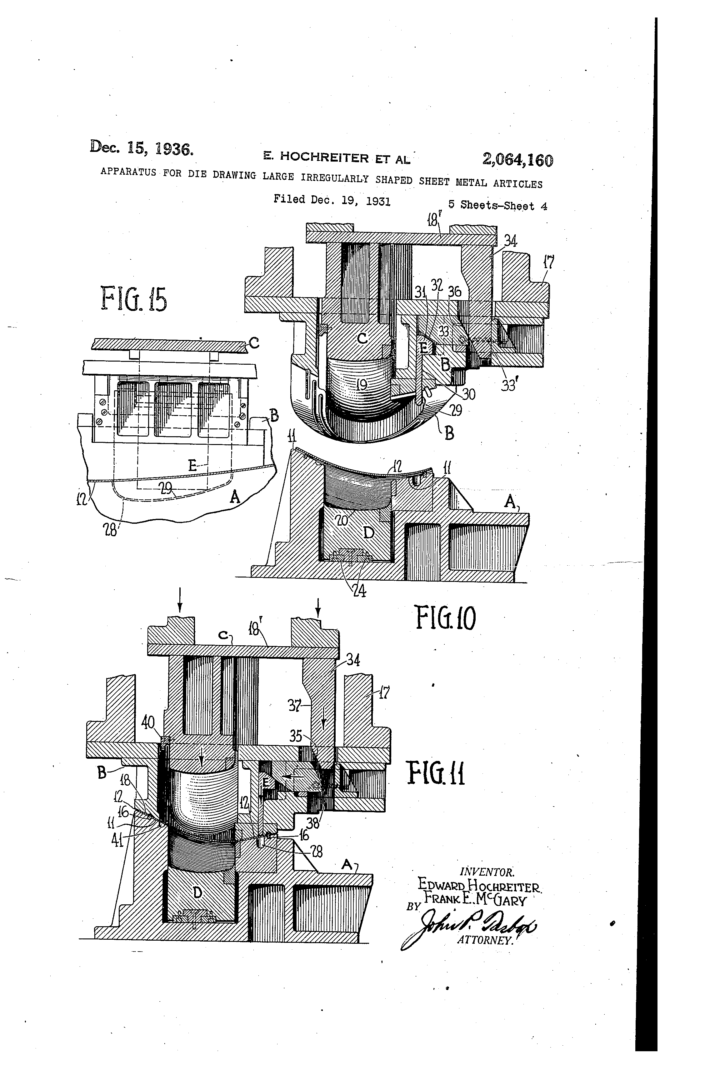 Patent Us2064160 Apparatus For Die Drawing Large