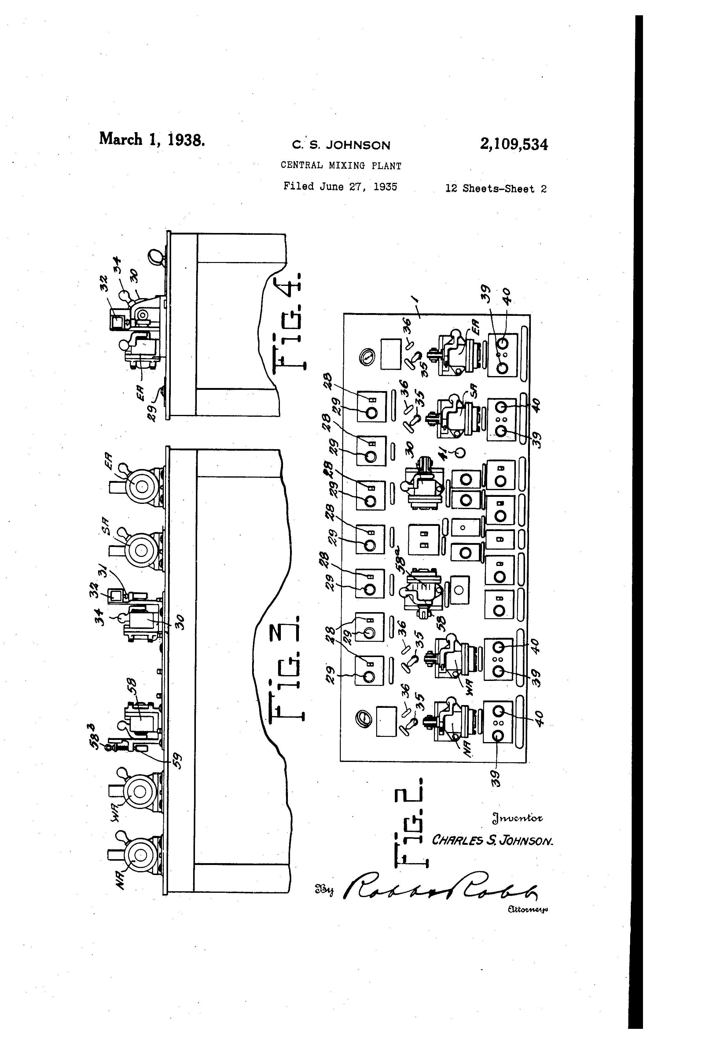 patent us2109534 central mixing plant patents