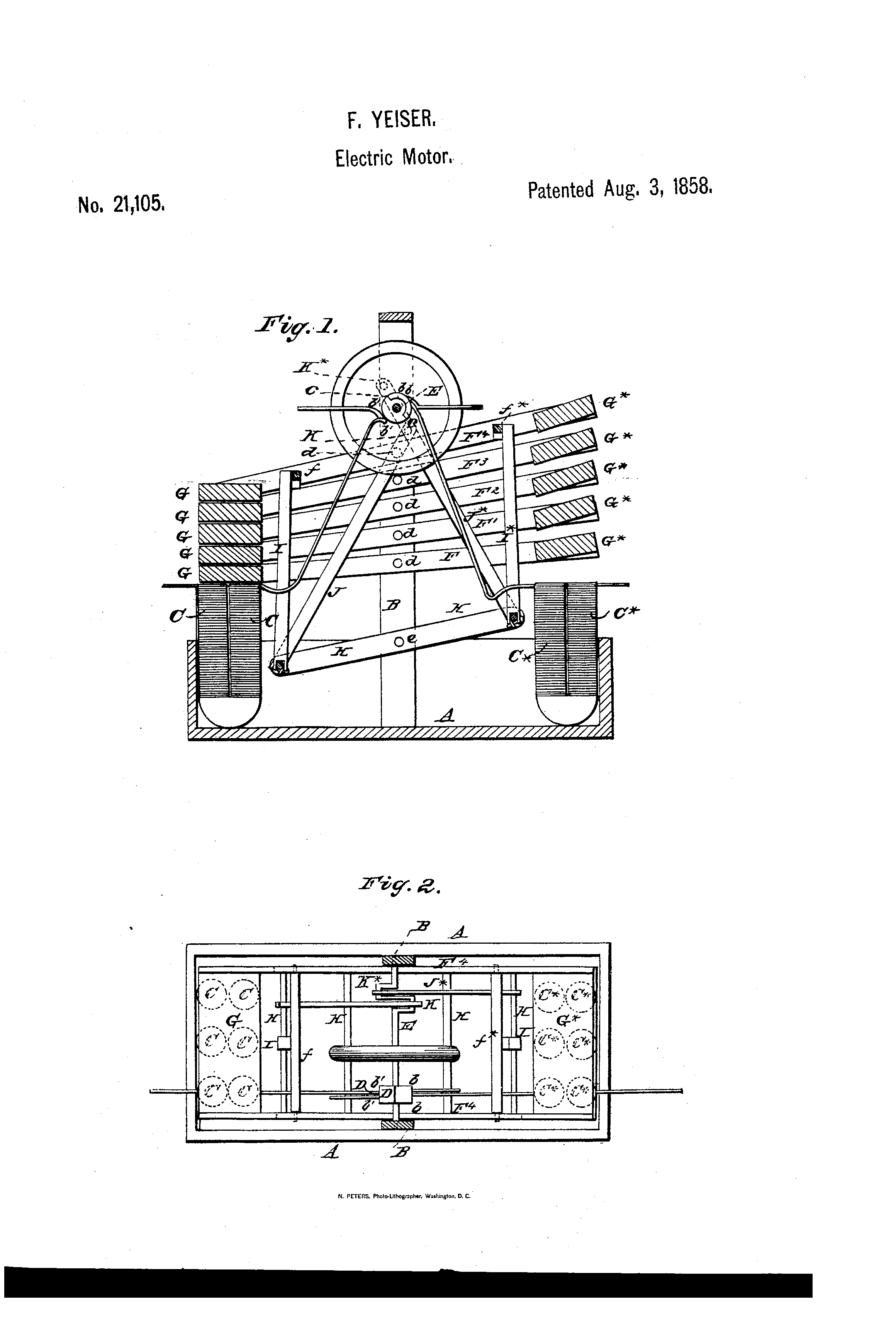 Patente Us21105 Improved Electro Magnetic Engine Google Patentes Diagram Patent Drawing