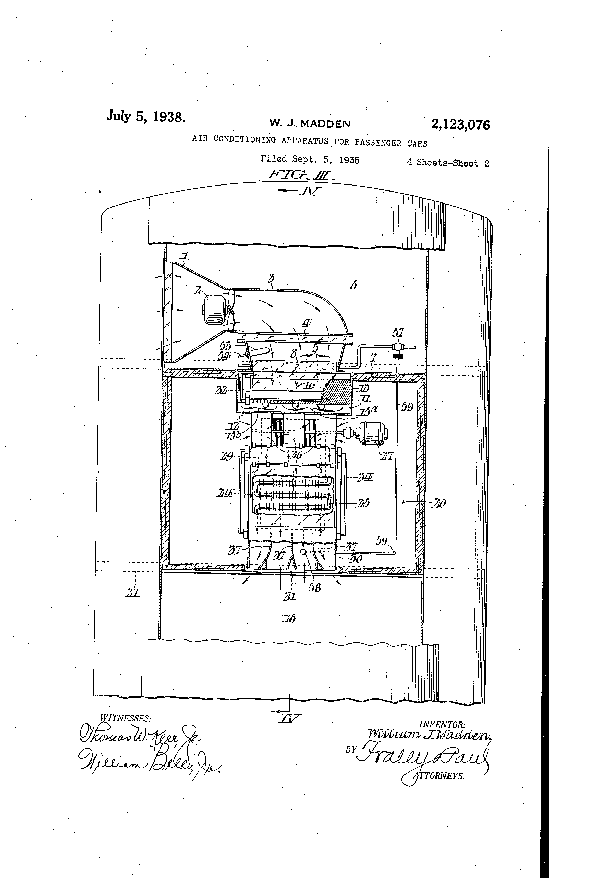 Patent US2123076 - Air conditioning apparatus for passenger