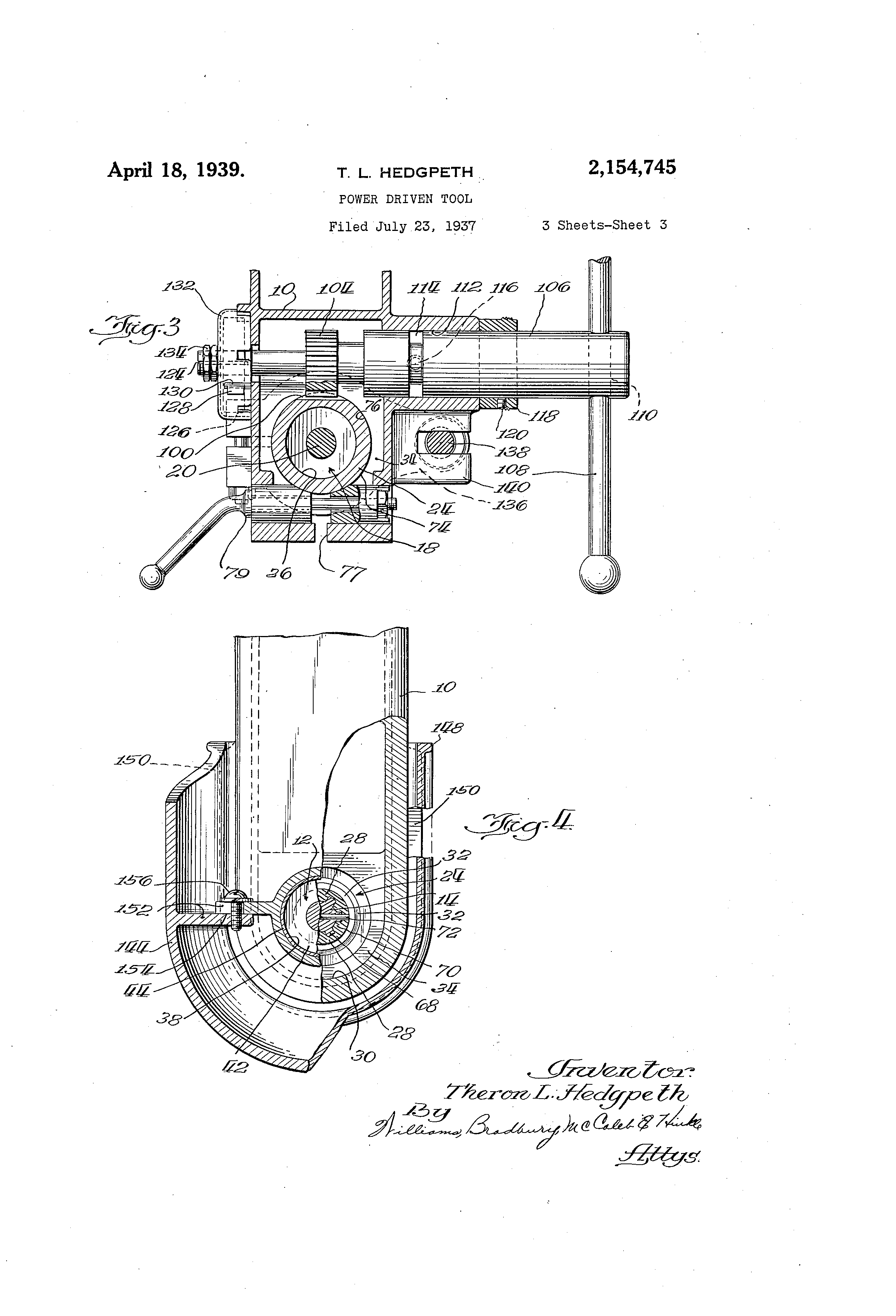 Patent US2154745 - Power driven tool - Google Patents