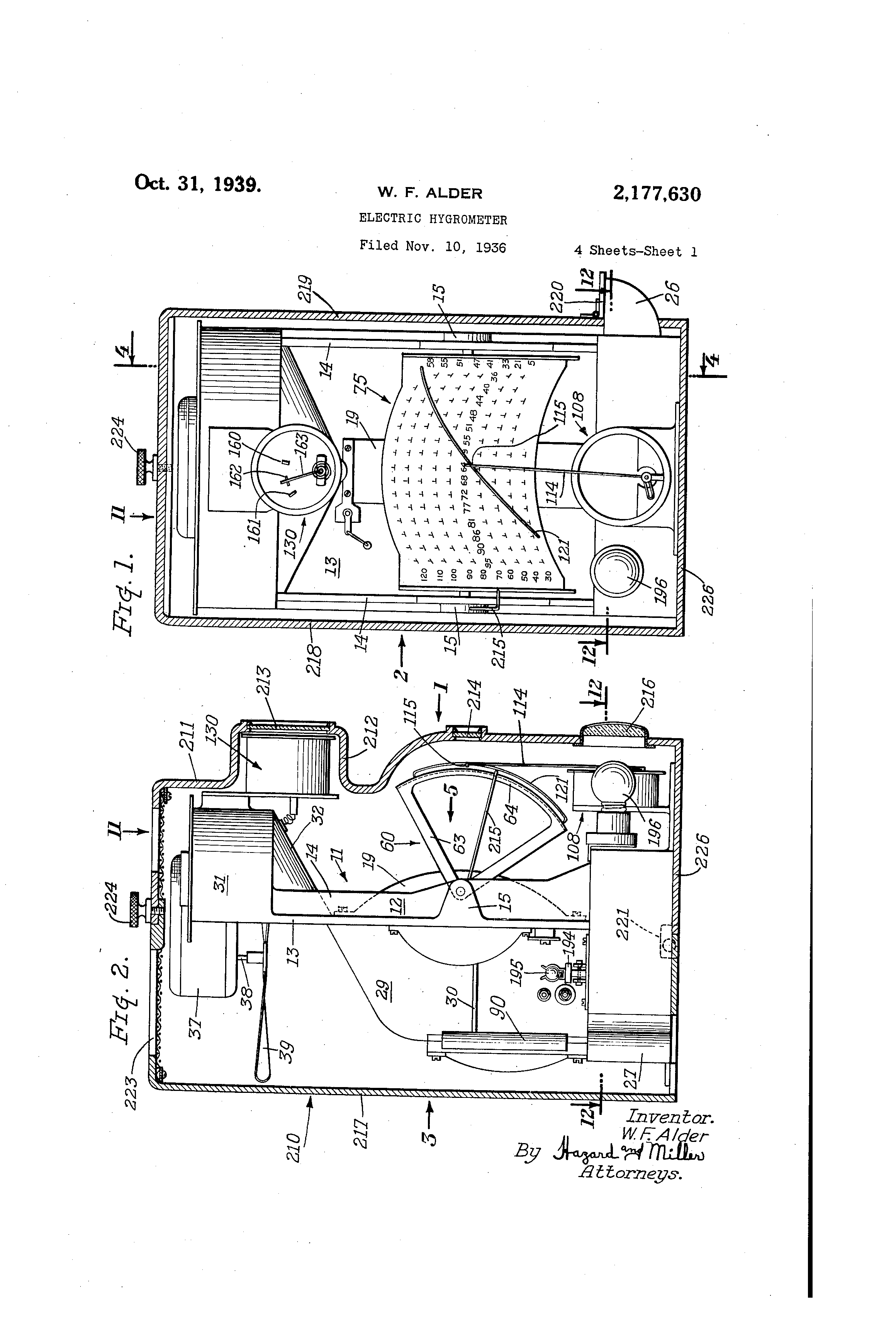patent us2177630 electric hygrometer google patents. Black Bedroom Furniture Sets. Home Design Ideas