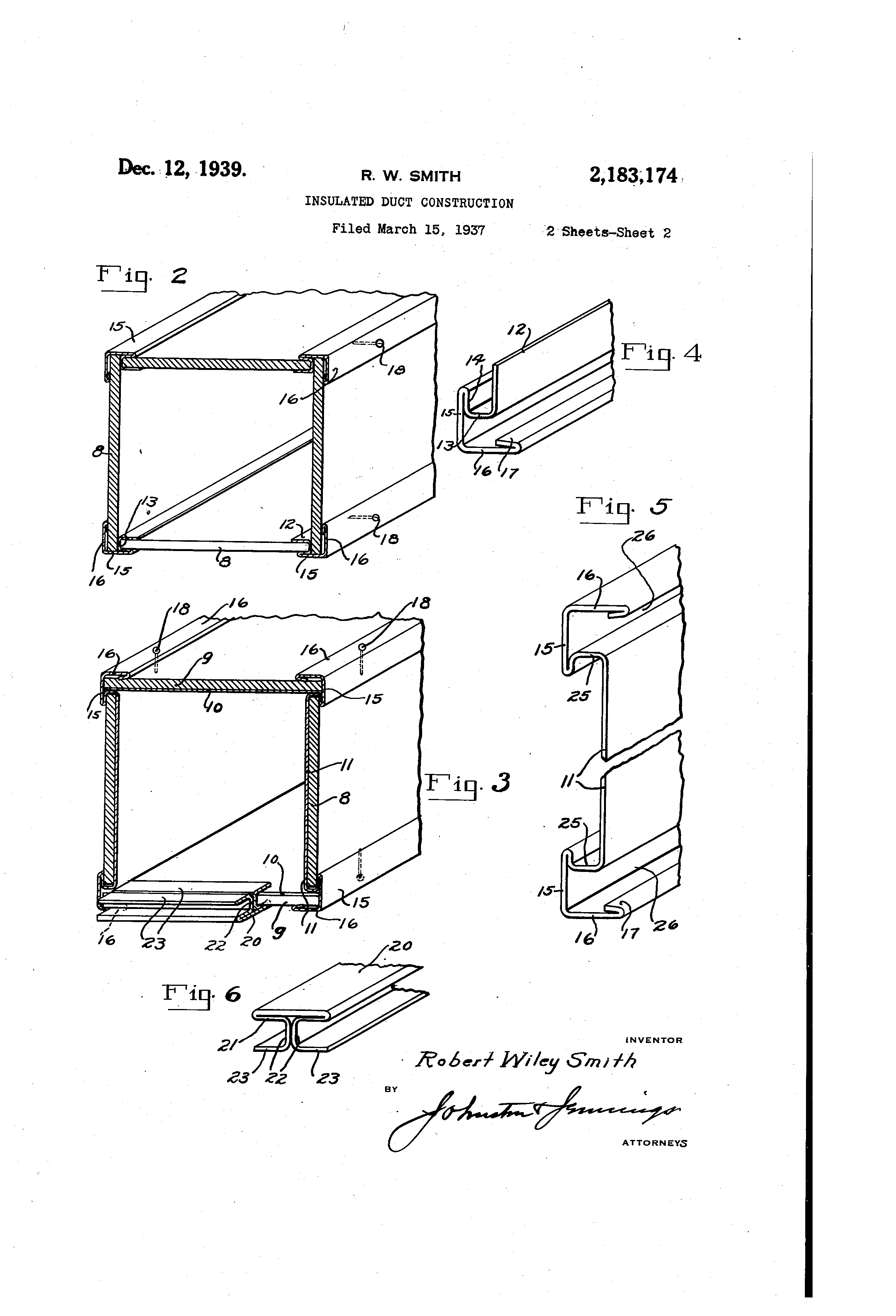 patent us2183174 - insulated duct construction