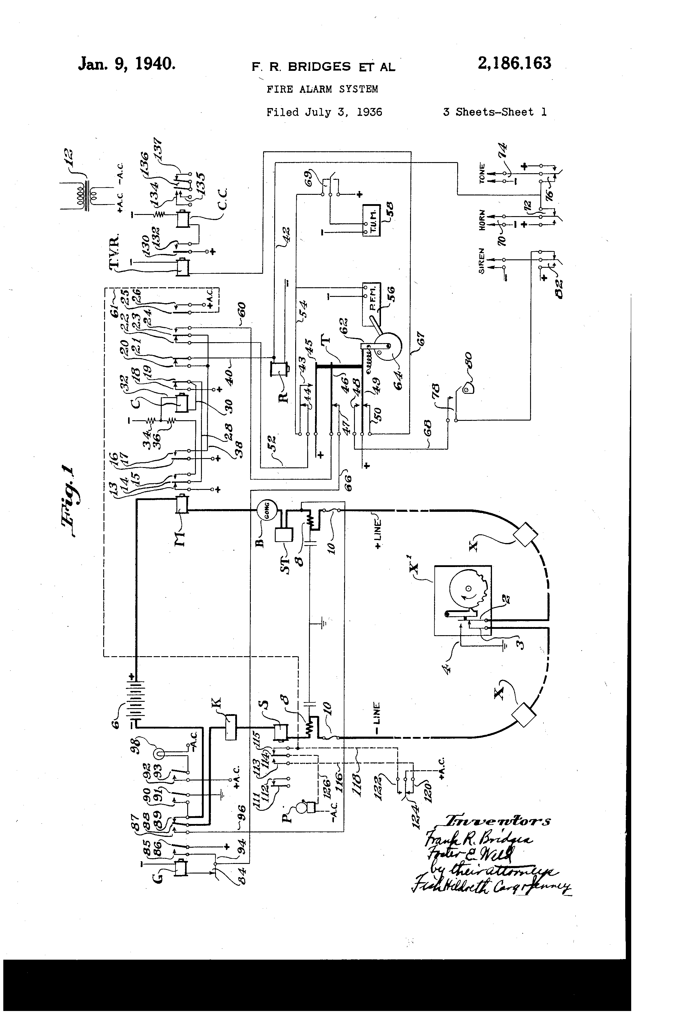 US2186163 0 patent us2186163 fire alarm system google patents gamewell fire alarm box wiring diagram at edmiracle.co