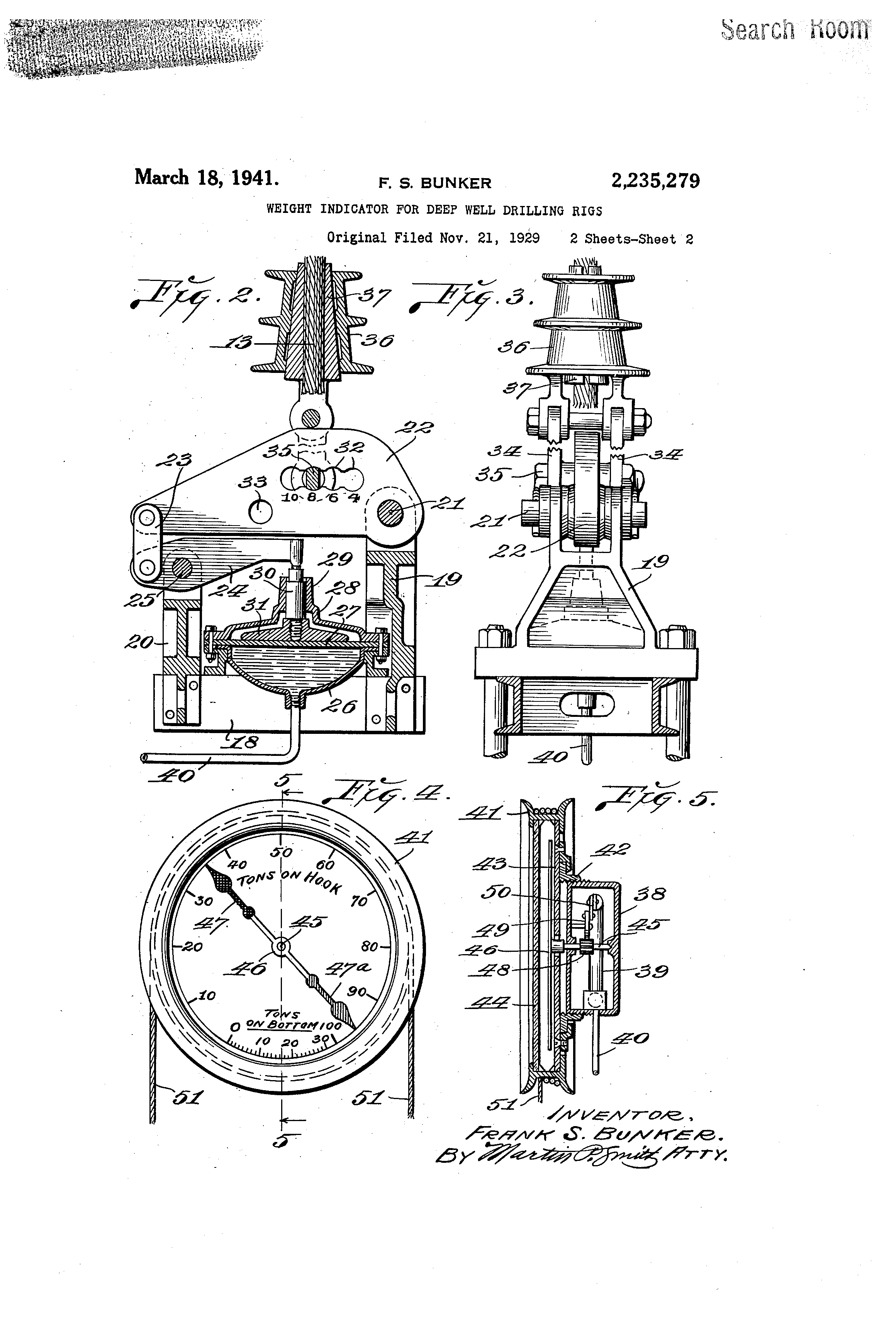 Marten Decker Load Indicator : Patent us weight indicator for deep well drilling