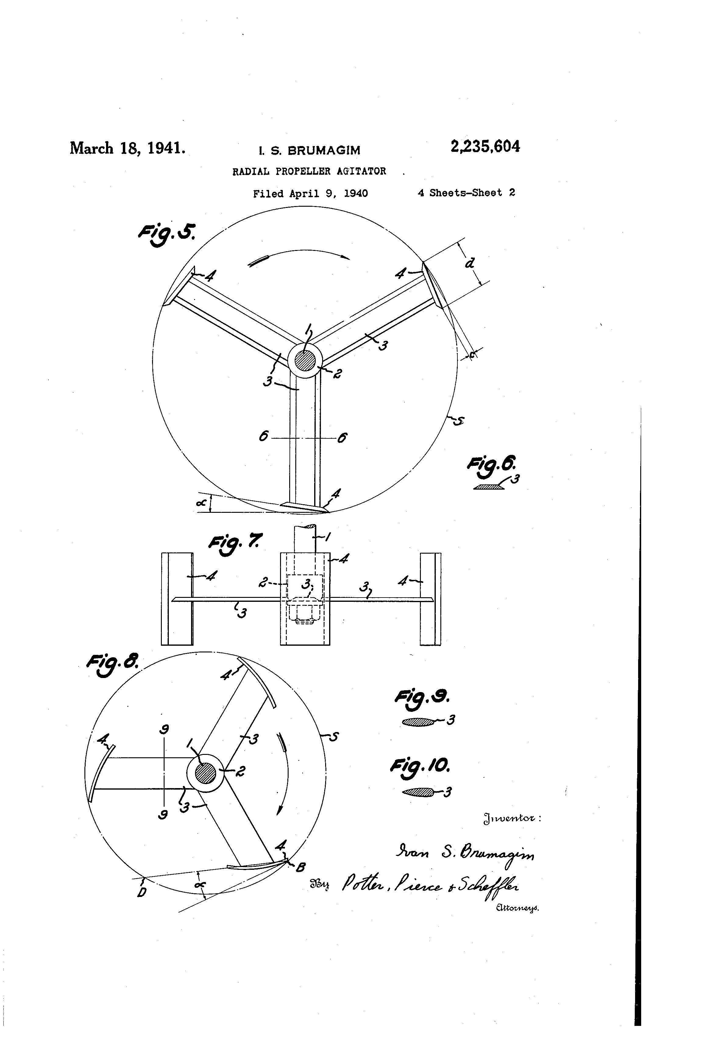 Patent US2235604 - Radial propeller agitator - Google Patents