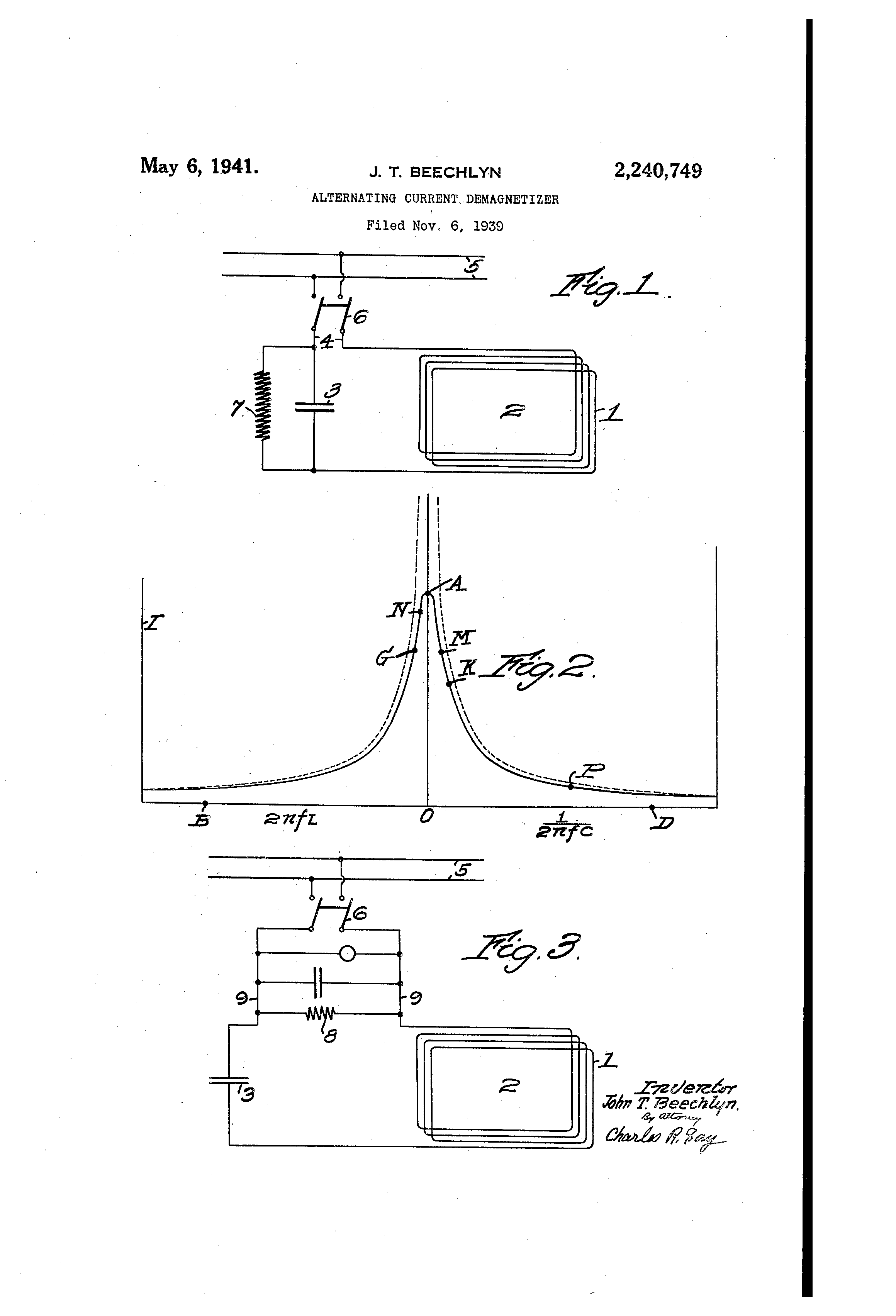 alternating current diagram. patent drawing alternating current diagram