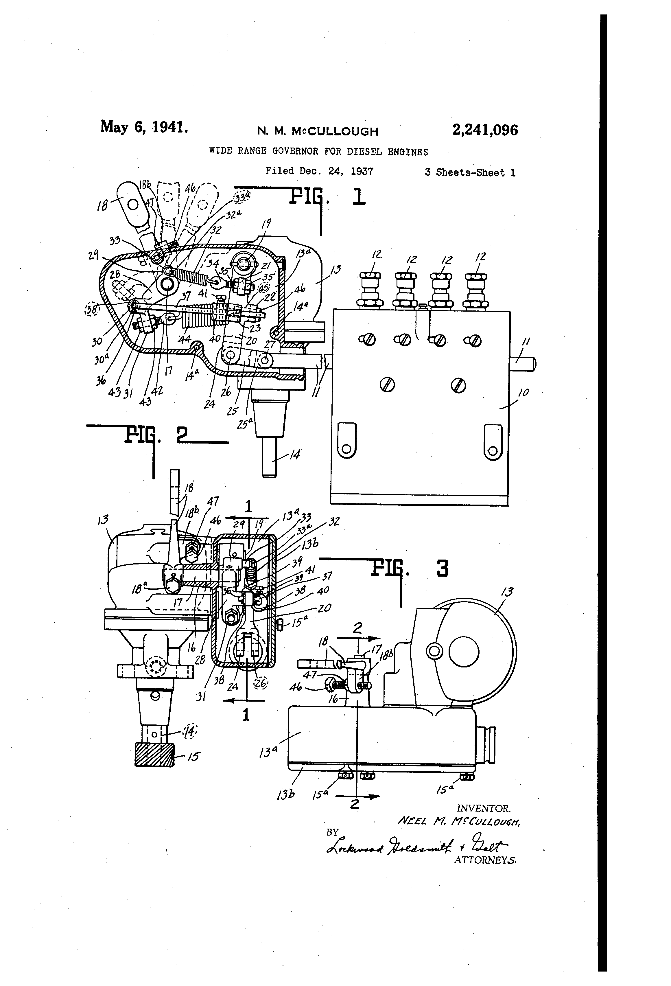 Patent Us2241096 Wide Range Governor For Diesel Engines Google Linkage Diagrams Besides Briggs Stratton Carburetor Diagram Drawing