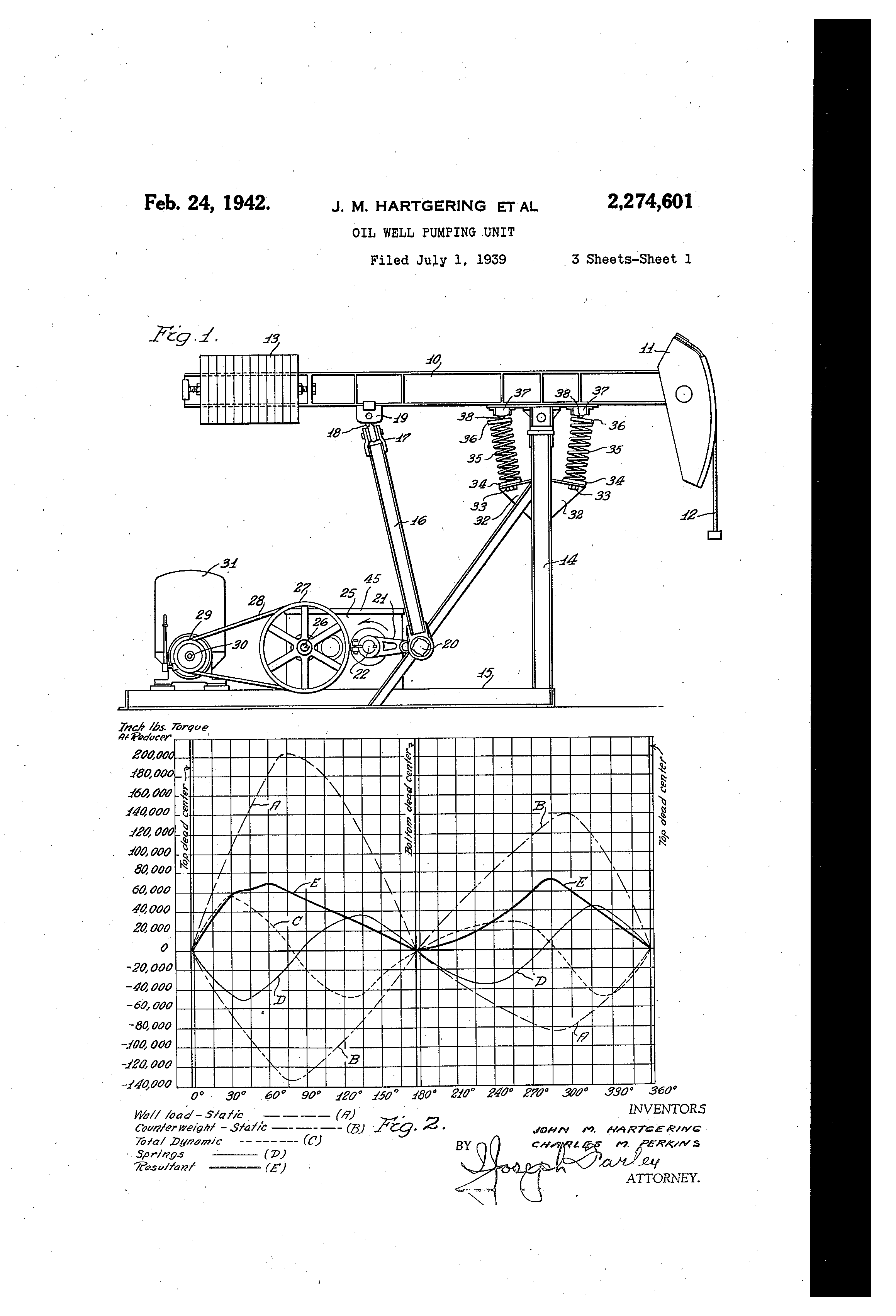 Patent Us2274601 Oil Well Pumping Unit Google Patents