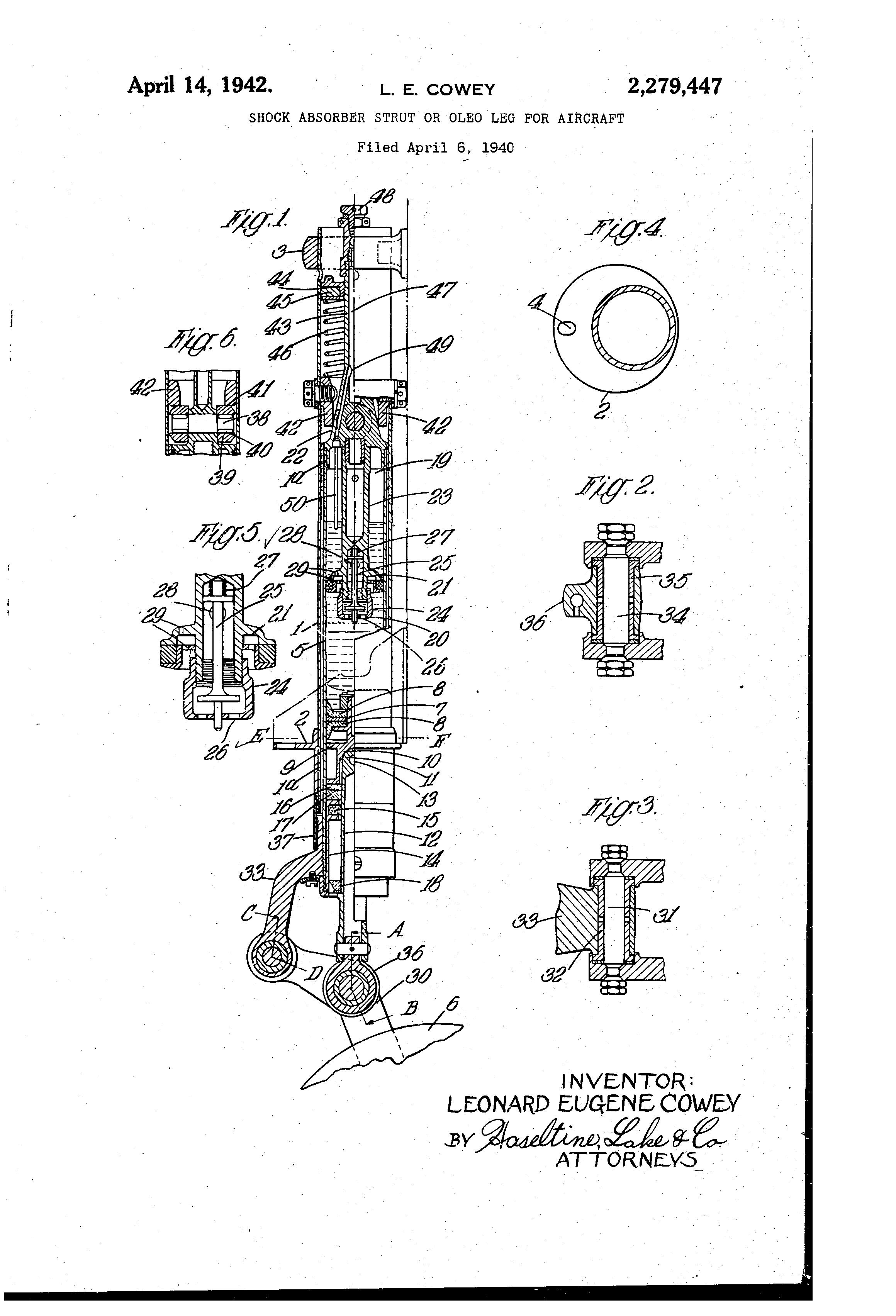 2004 chrysler strut diagram patent us2279447 - shock absorber strut or oleo leg for ...