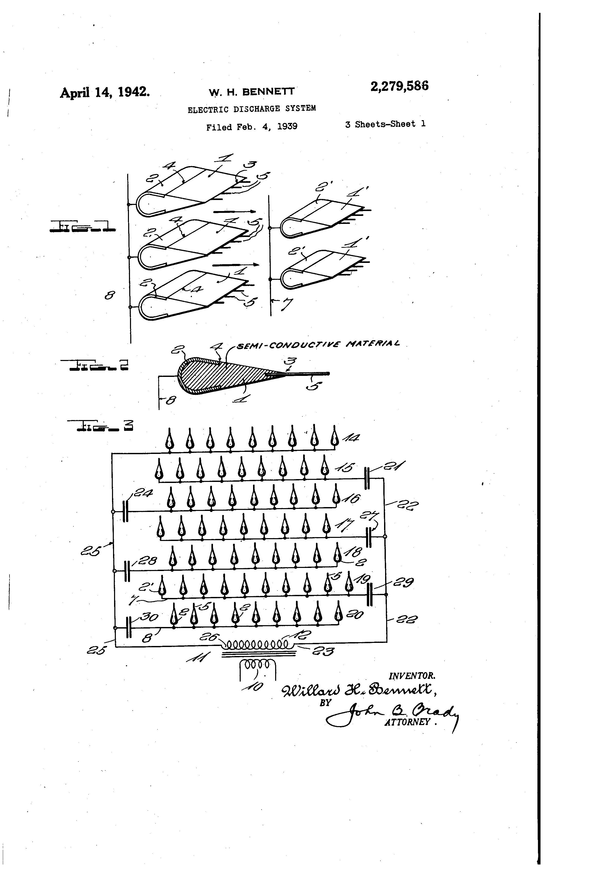 Patent Us2279586 Electric Discharge System Google Patents