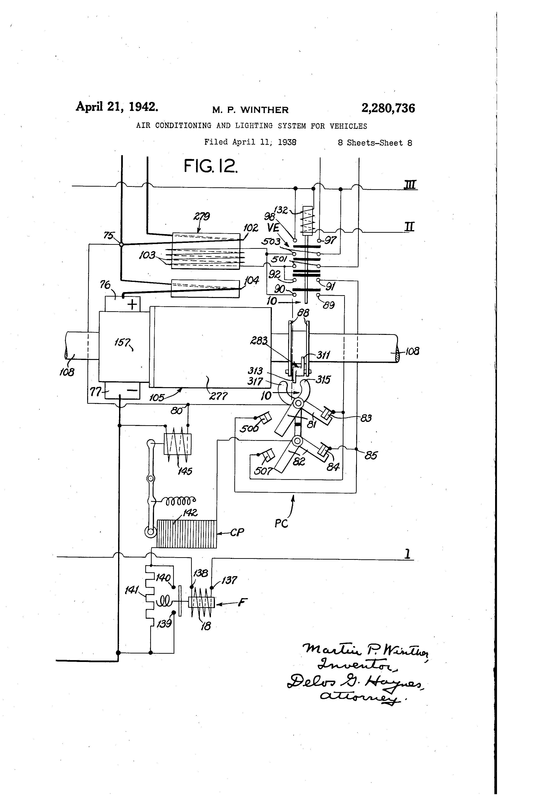 Patent US2280736 Air conditioning and lighting system for – Ing Wire Receptacle In Ries Diagrams