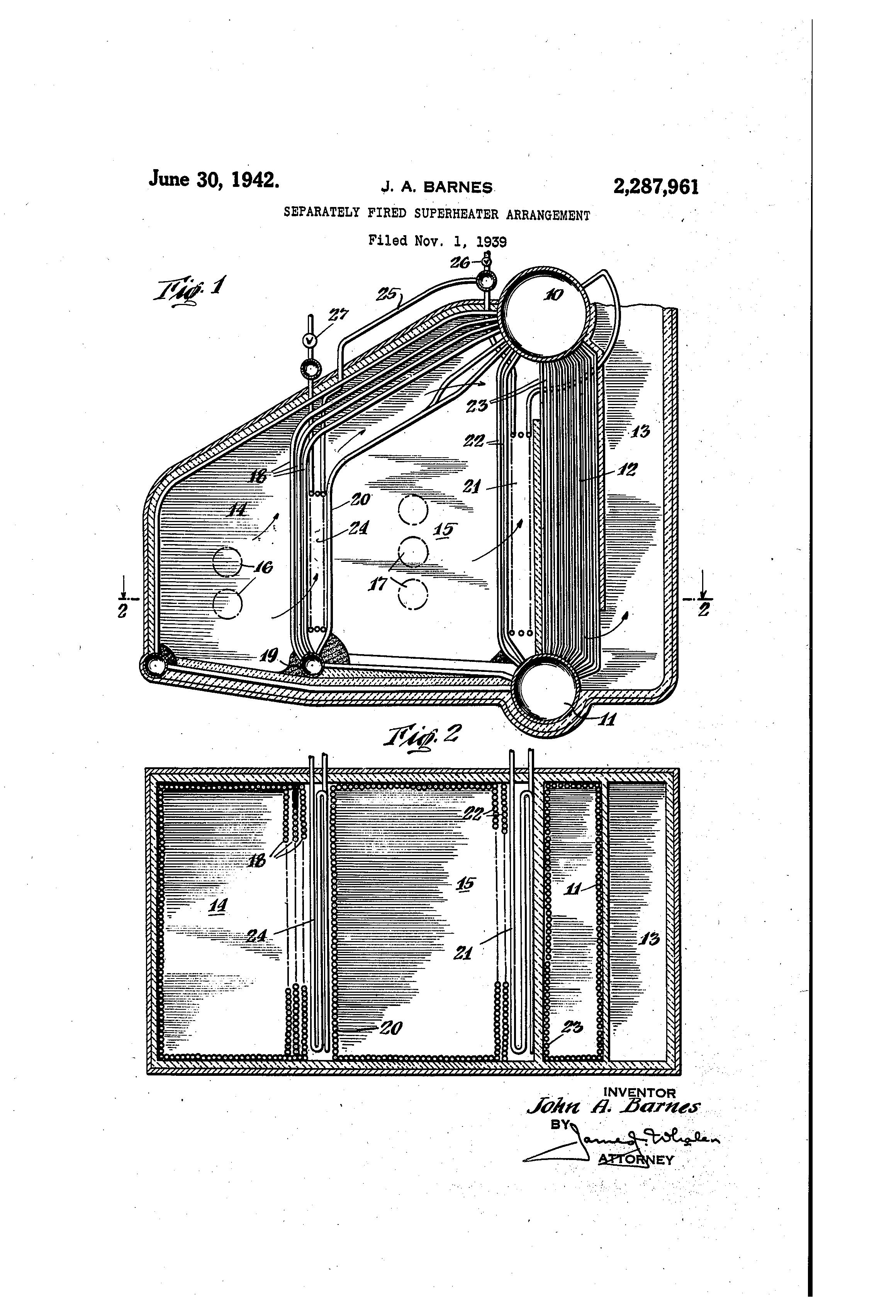 boiler superheater diagram