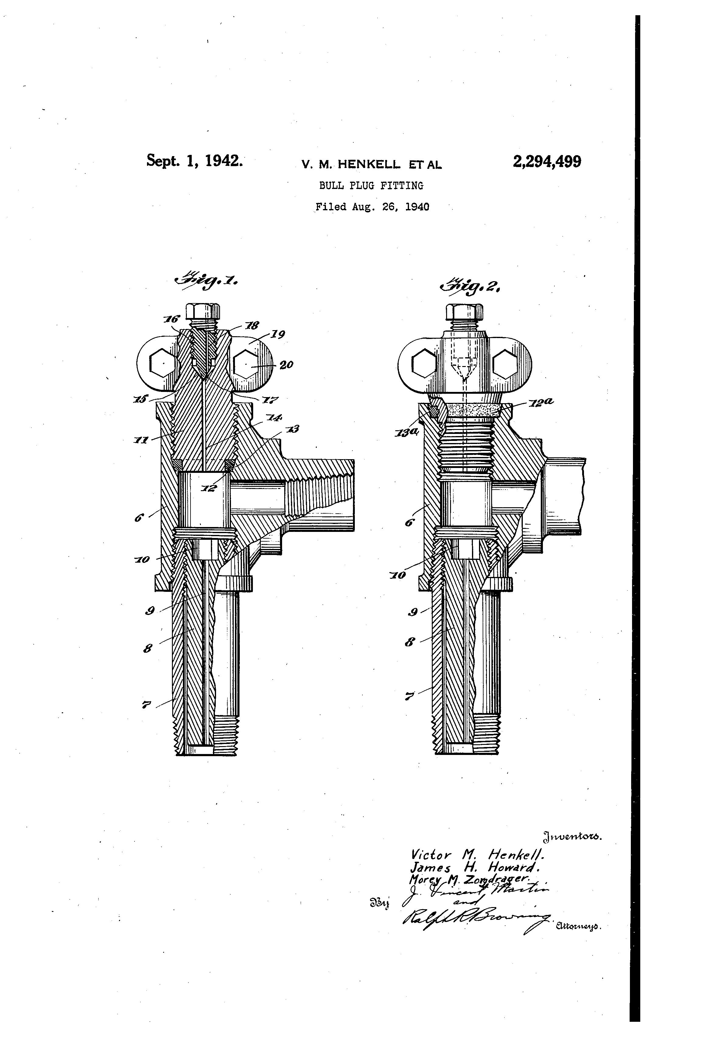 Patent us bull plug fitting google patents