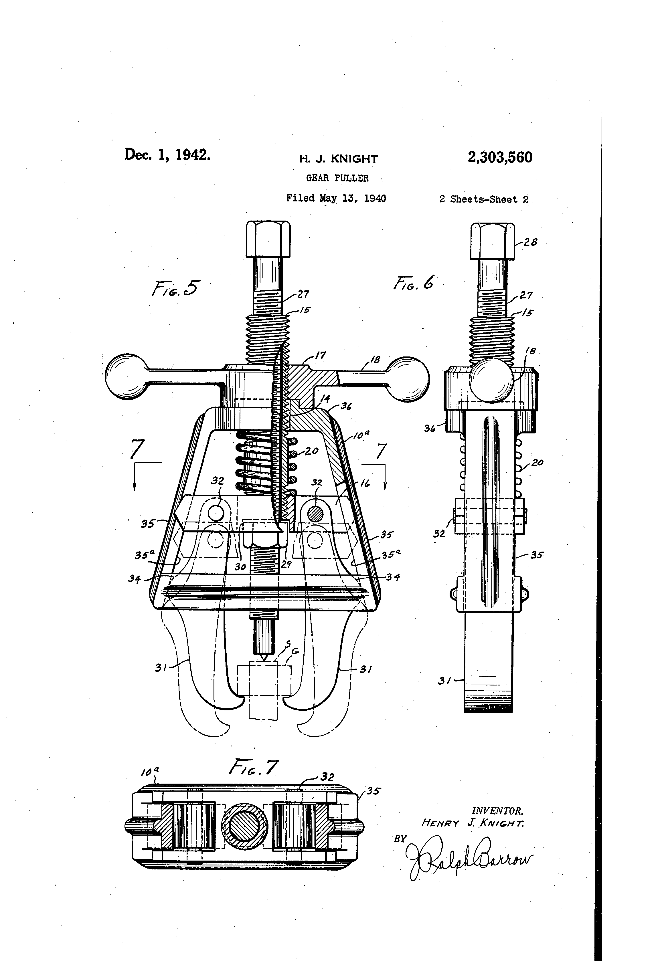 Bearing Puller Diagram : Patent us gear puller google patents