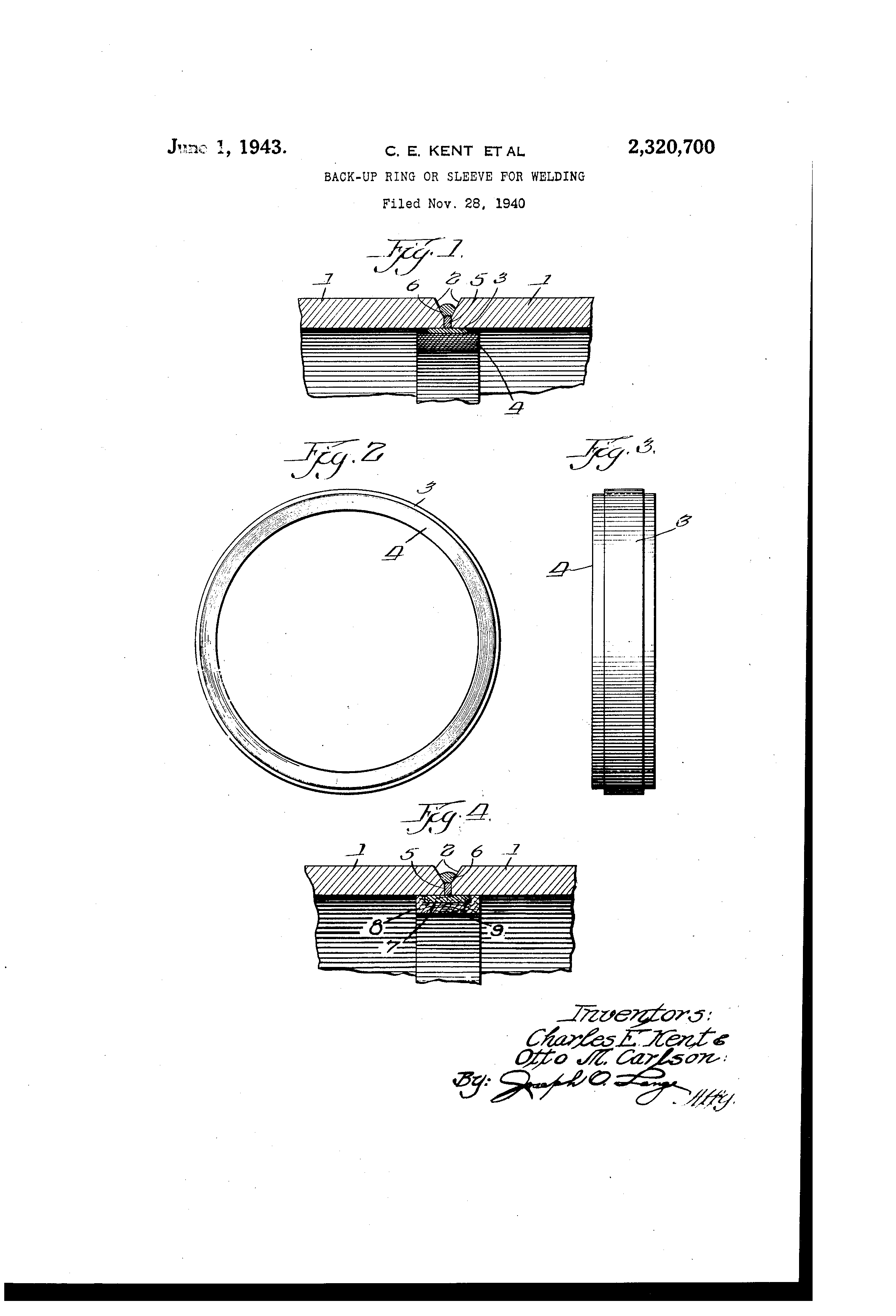 Patent us backup ring or sleeve for welding