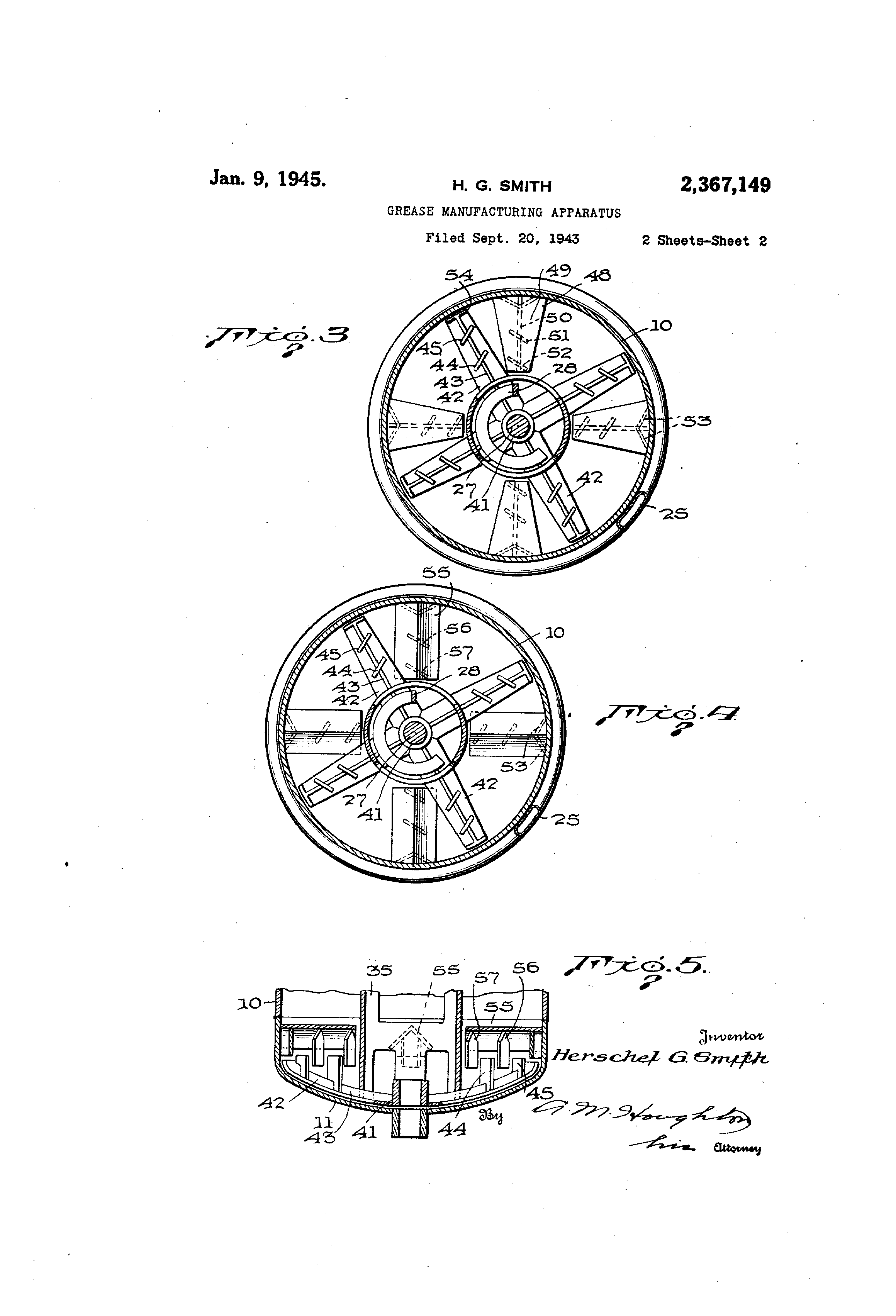Patent US2367149 - Grease manufacturing apparatus