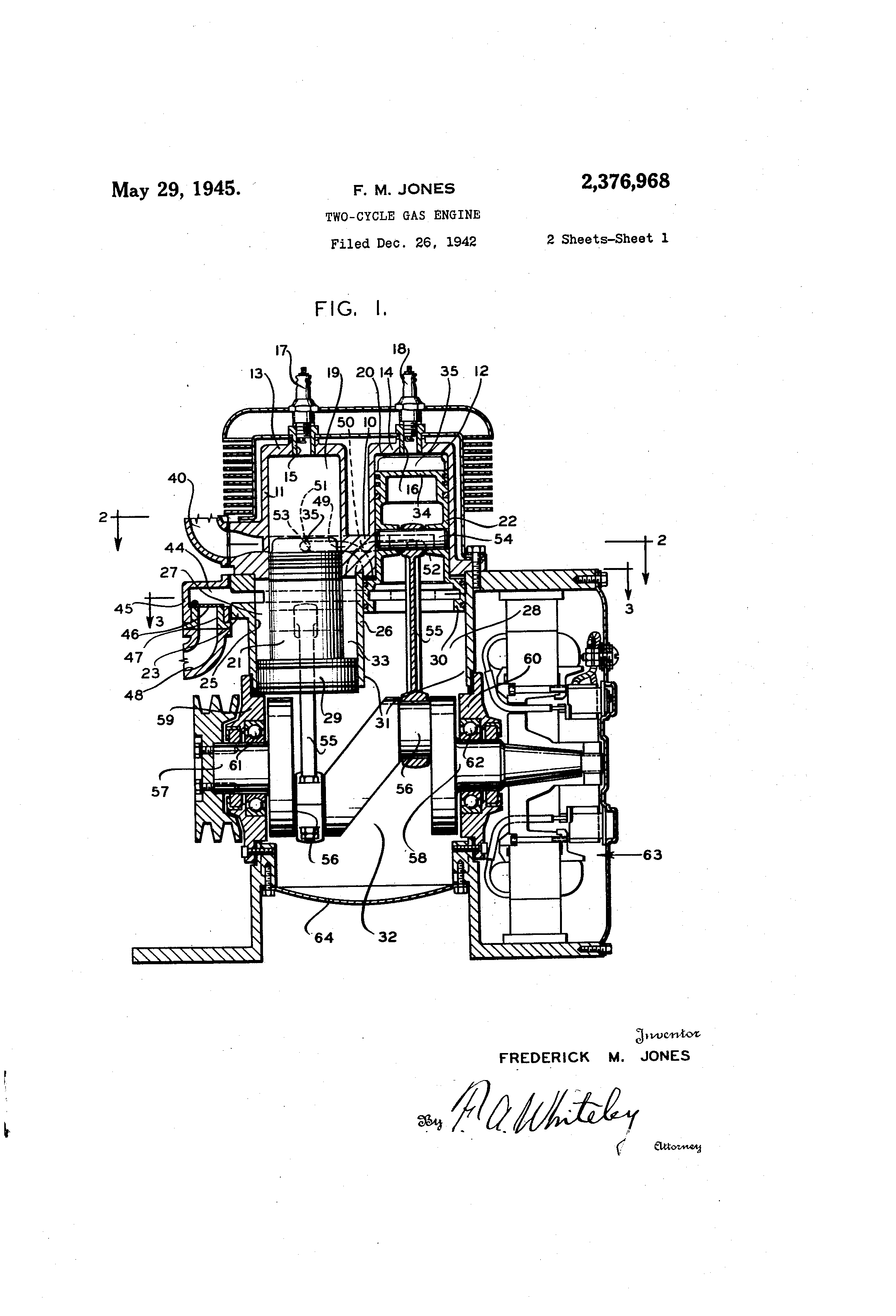 Patent Us2376968 Two Cycle Gas Engine Google Patents