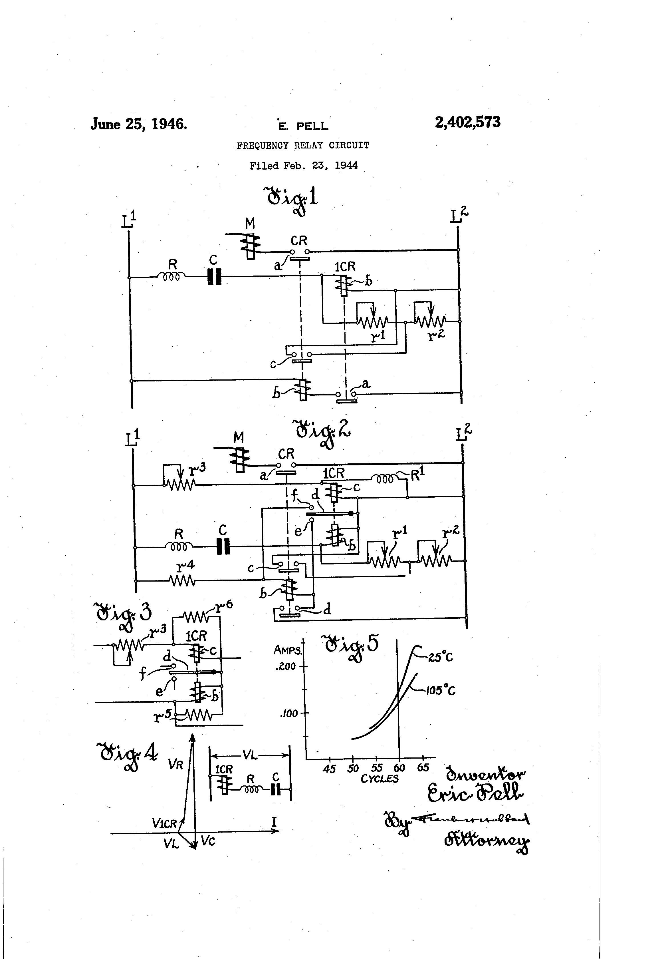 Frequency Relay Circuit Diagram Electrical Wiring Diagrams Analog Meter Tradeoficcom Patent Us2402573 Circuits Google Patents 12v With