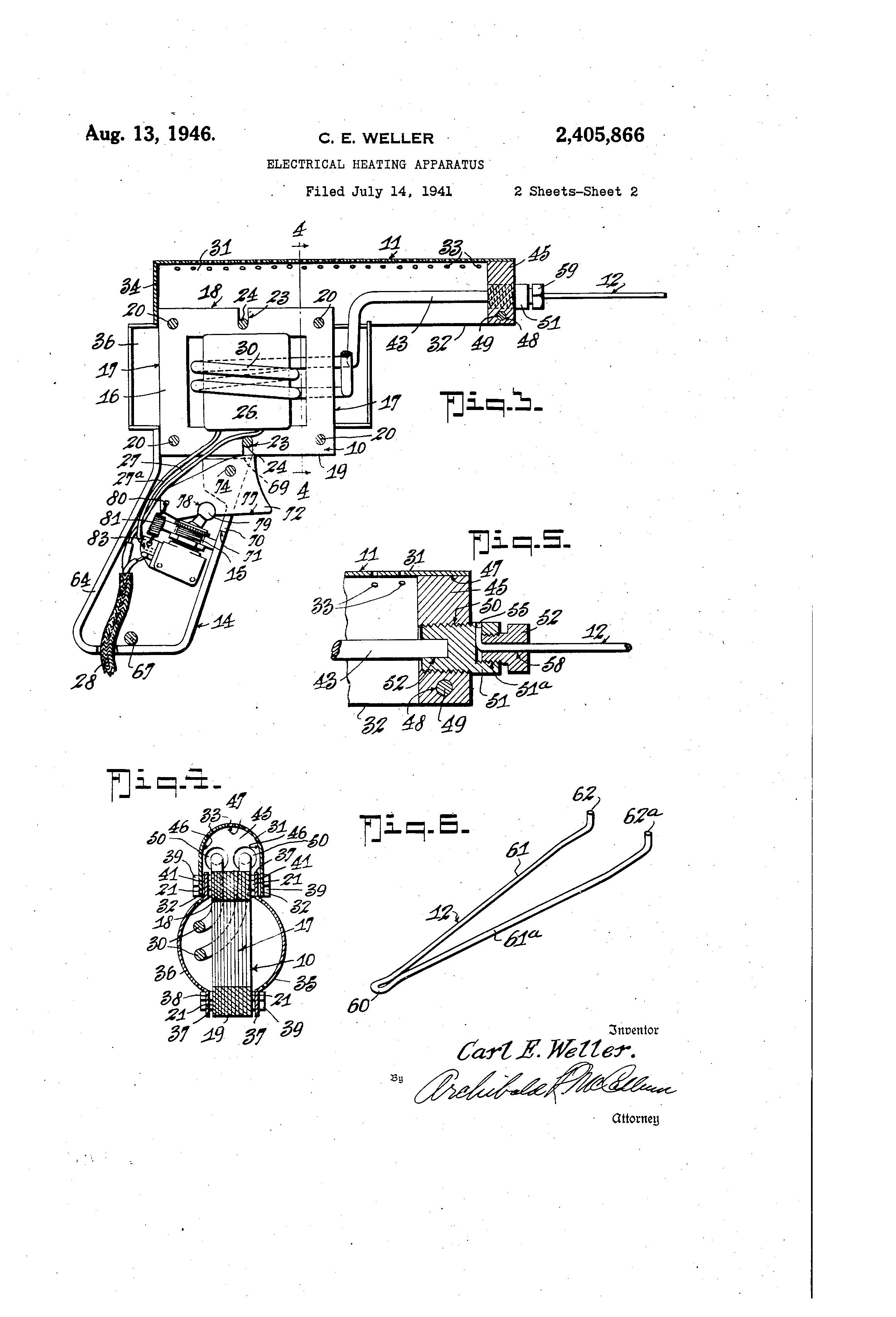 soldering gun patent drawing