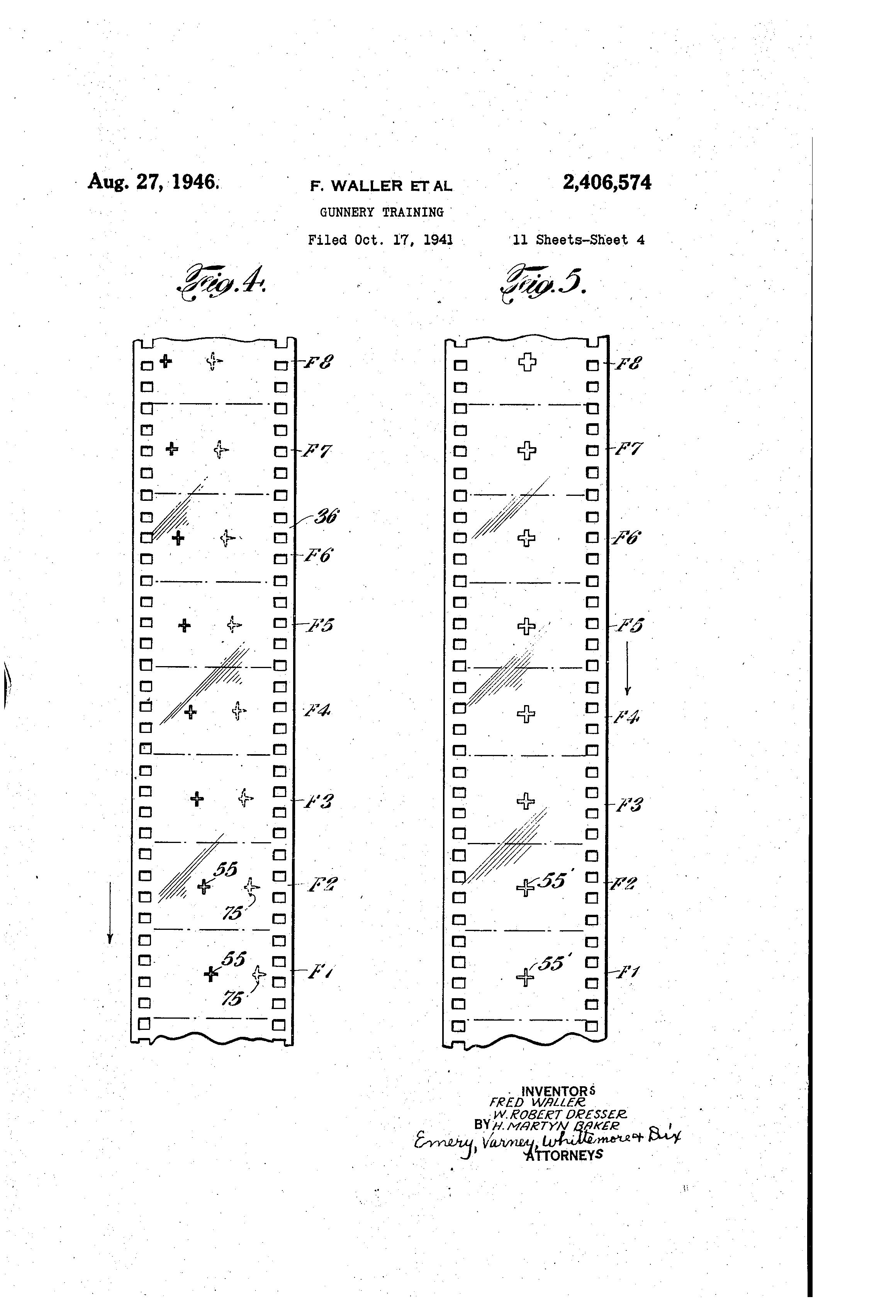 Patent US2406574 - Gunnery training - Google Patents