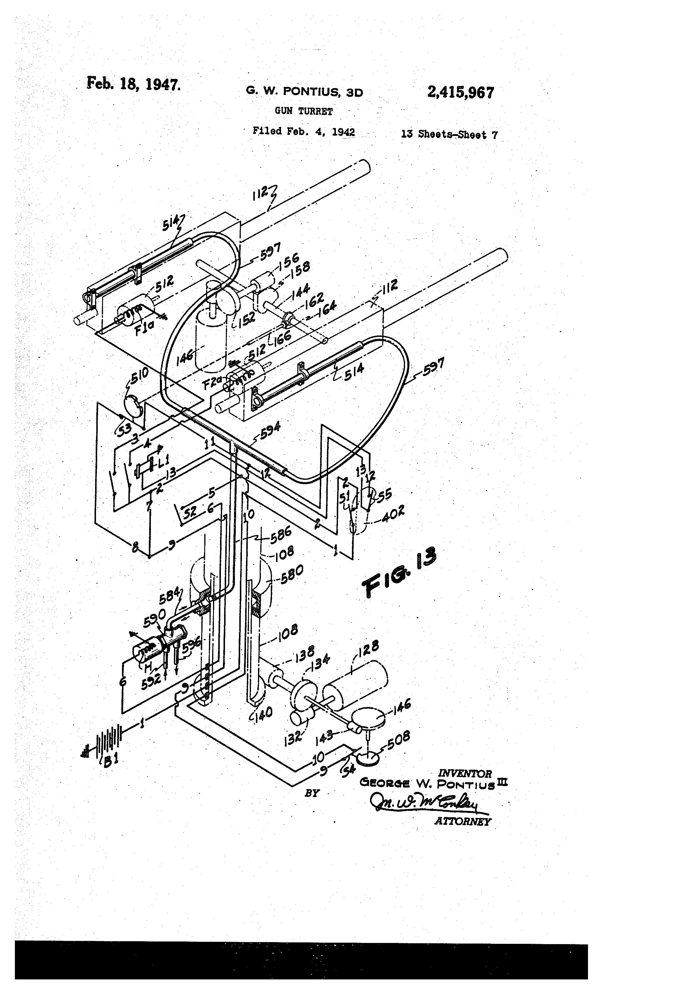 US2415967 6 patent us2415967 gun turret google patents,1953 Solenoid Wiring The 1947 Present Chevrolet Gmc Truck