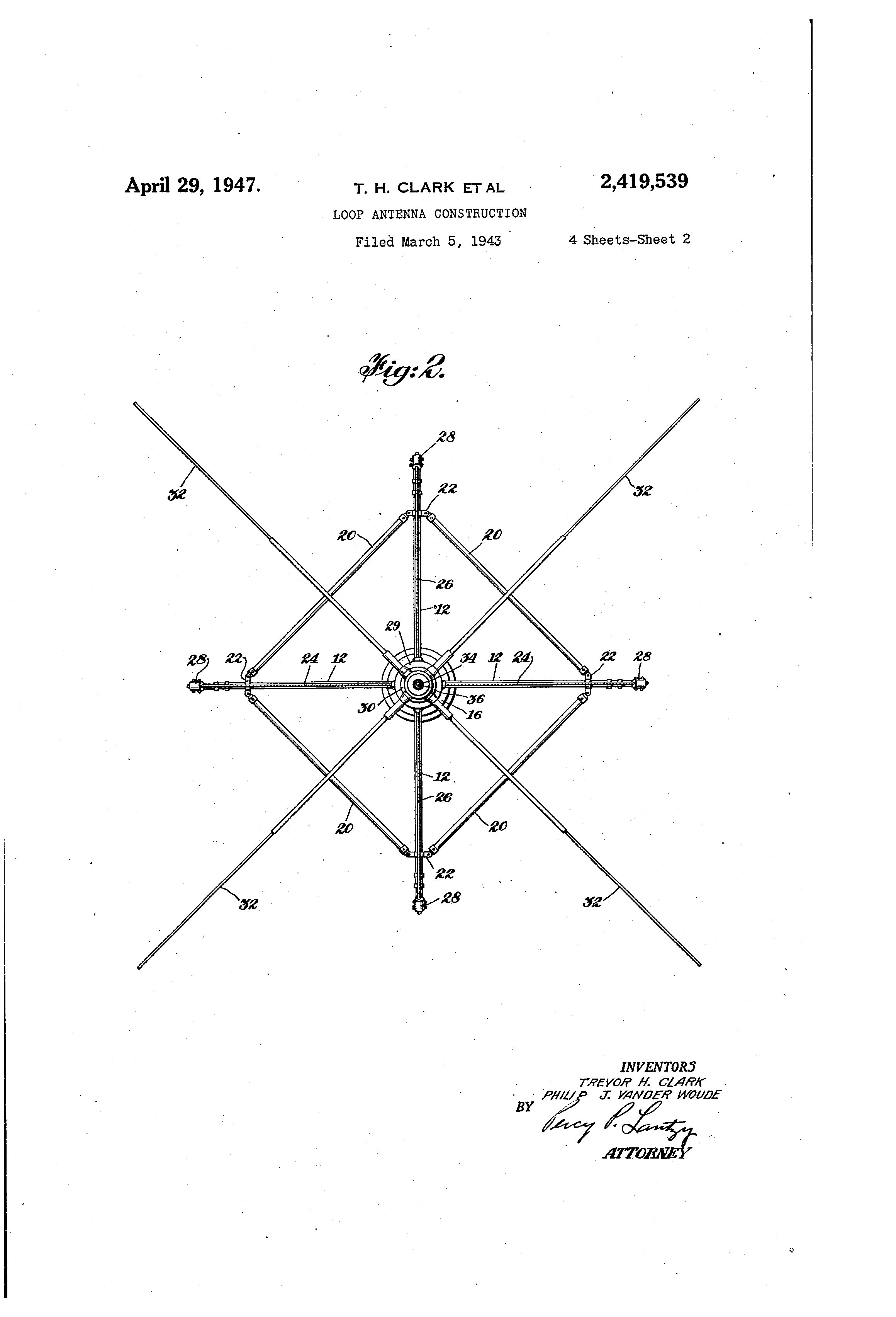 patent us2419539 - loop antenna construction